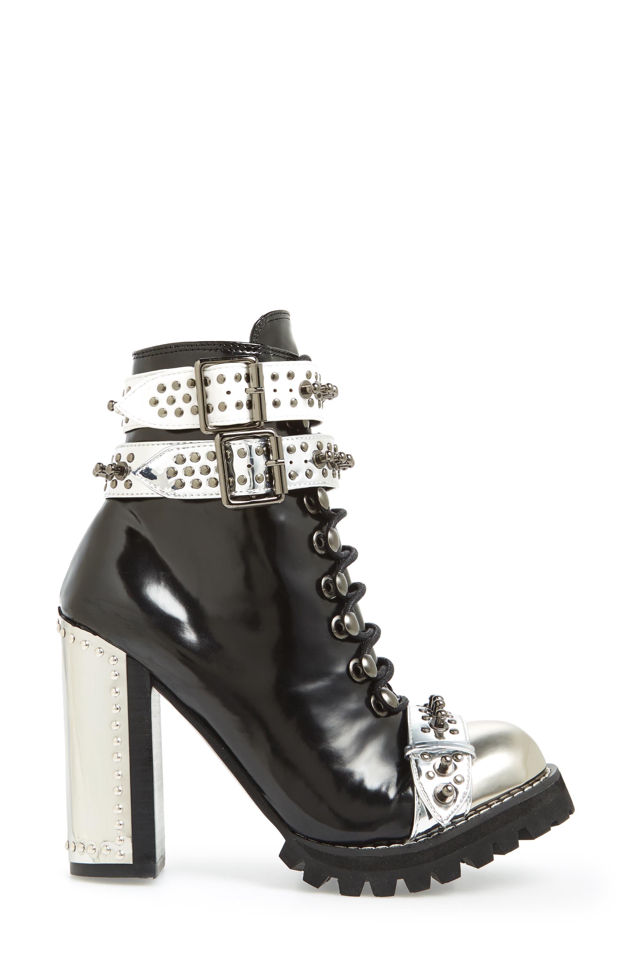 Scorpius Armored Lug Boot,                             Alternate thumbnail 3, color,                             Black Box Silver White