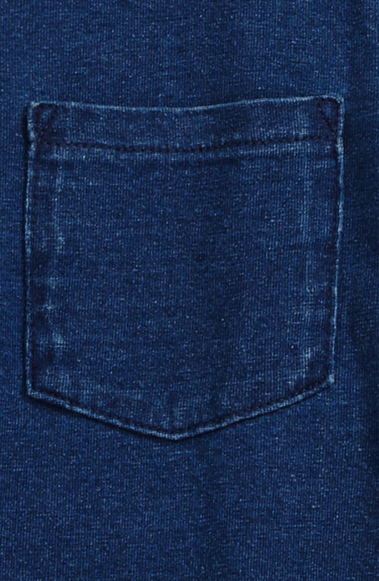 AG Henley T-Shirt,                             Alternate thumbnail 2, color,                             Indigo Rinse