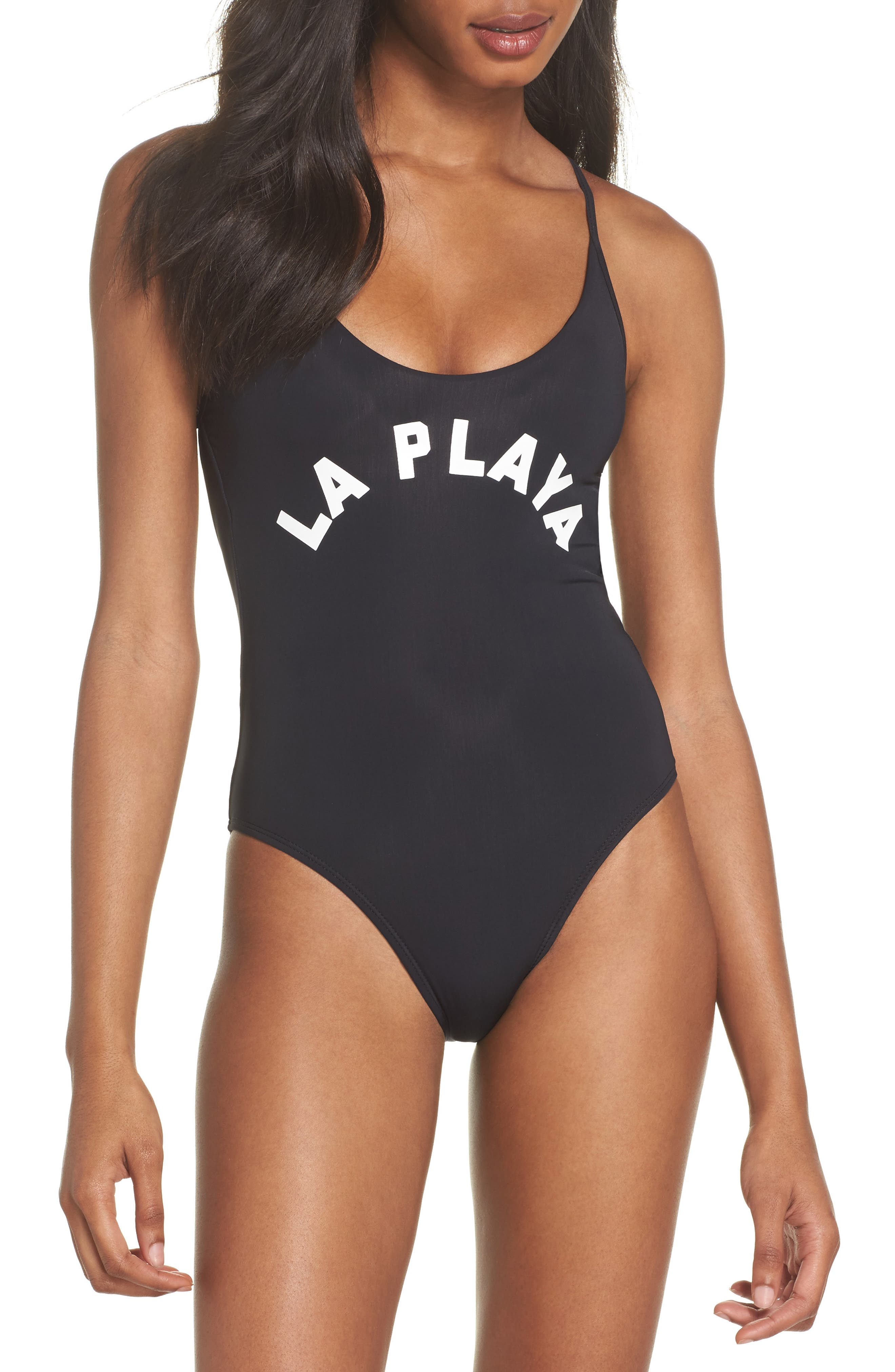 Farrah One-Piece Swimsuit,                             Main thumbnail 1, color,                             Black Multi