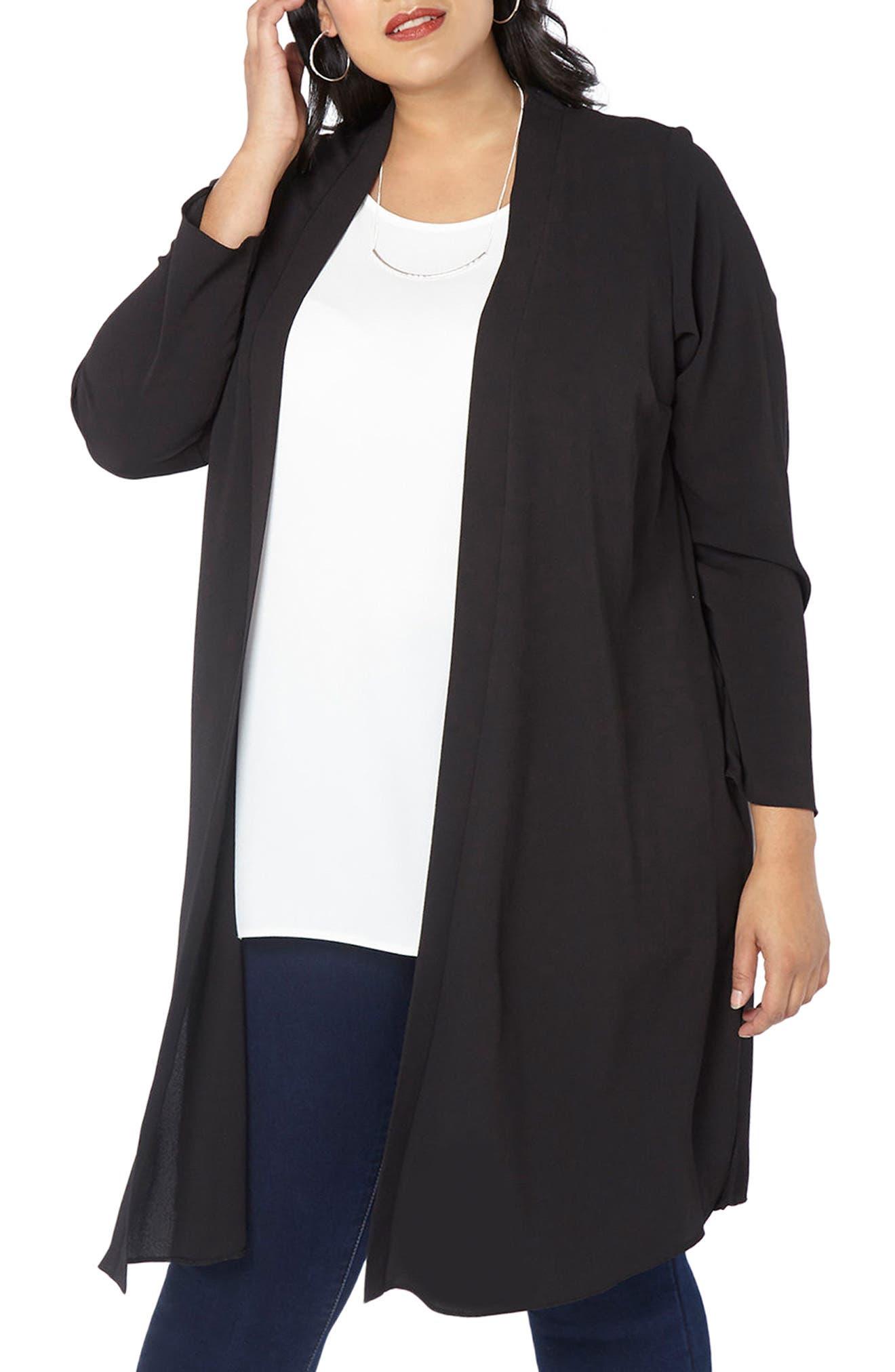 Alternate Image 1 Selected - Evans Long Jacket (Plus Size)