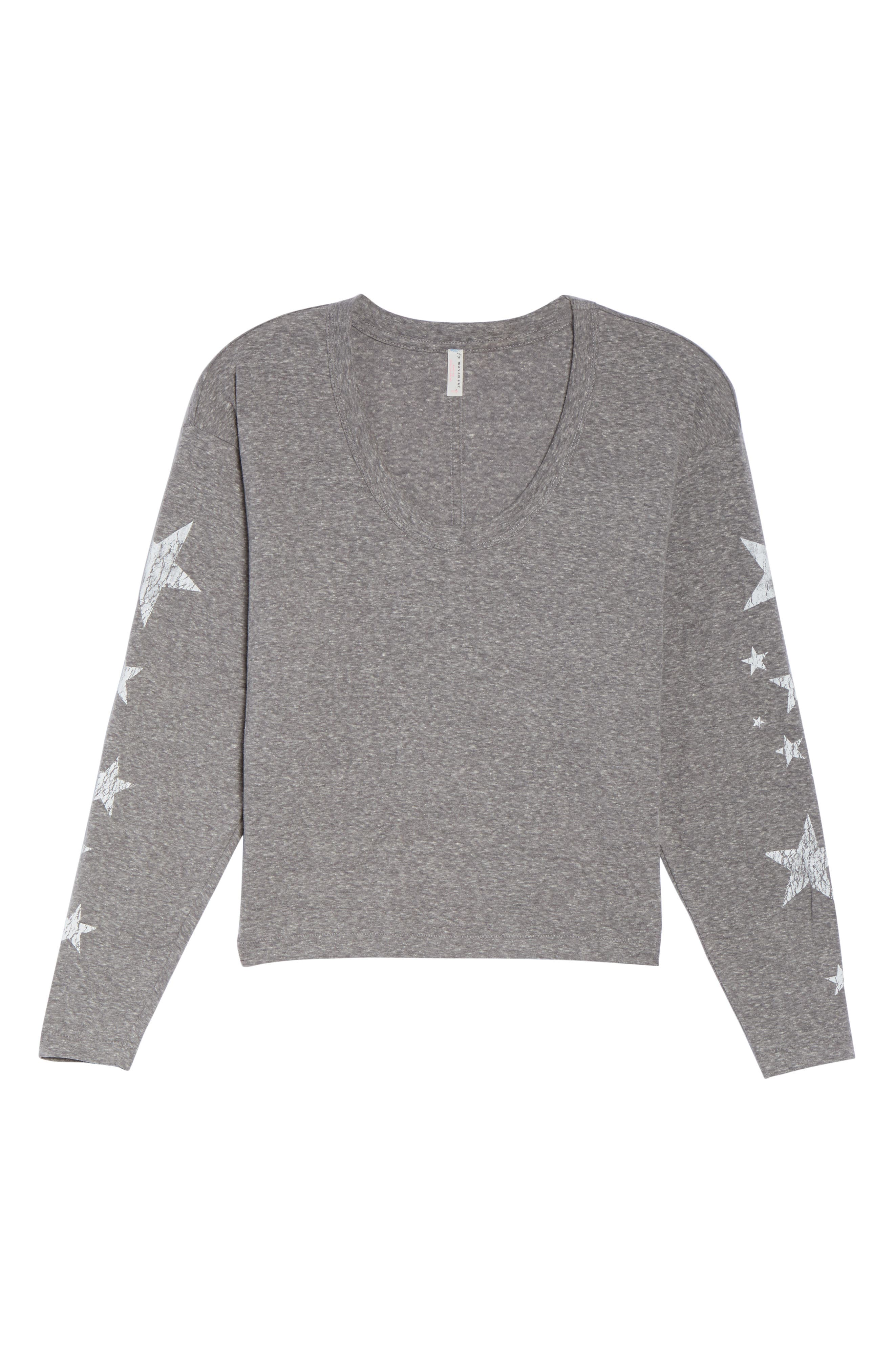 Free People Melrose Star Graphic Top,                             Alternate thumbnail 7, color,                             Grey