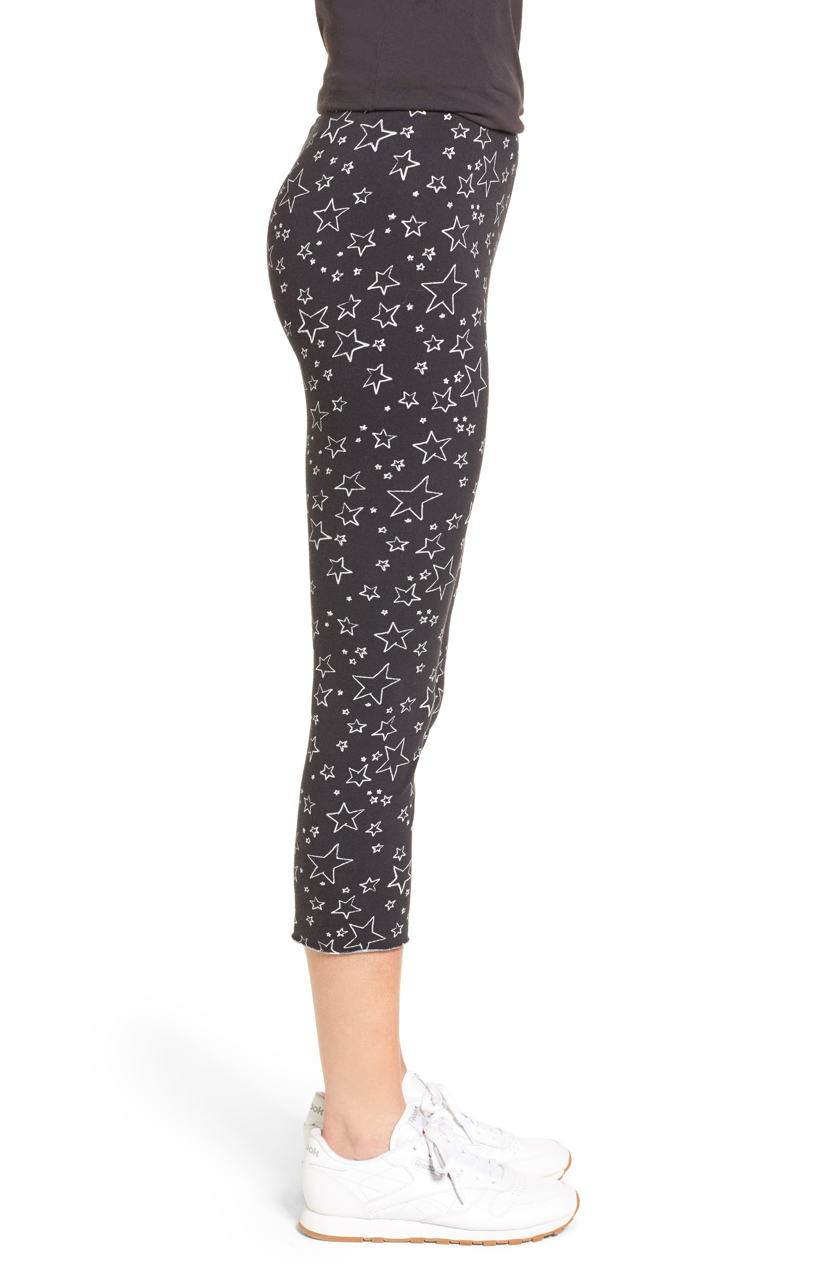 Crop Leggings,                             Alternate thumbnail 3, color,                             Lucky Star Night