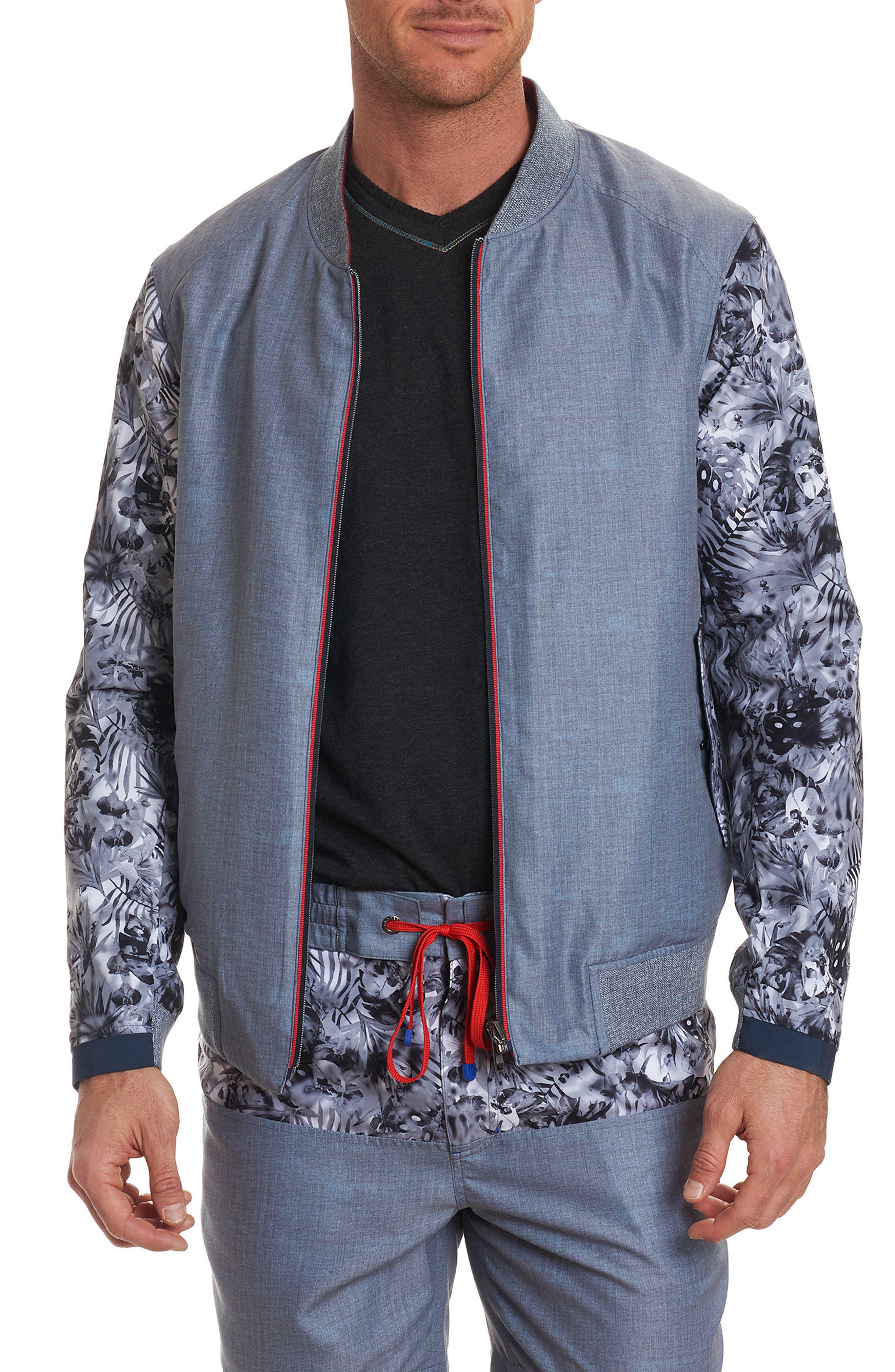 Nimble Reversible Bomber Jacket,                         Main,                         color, Grey
