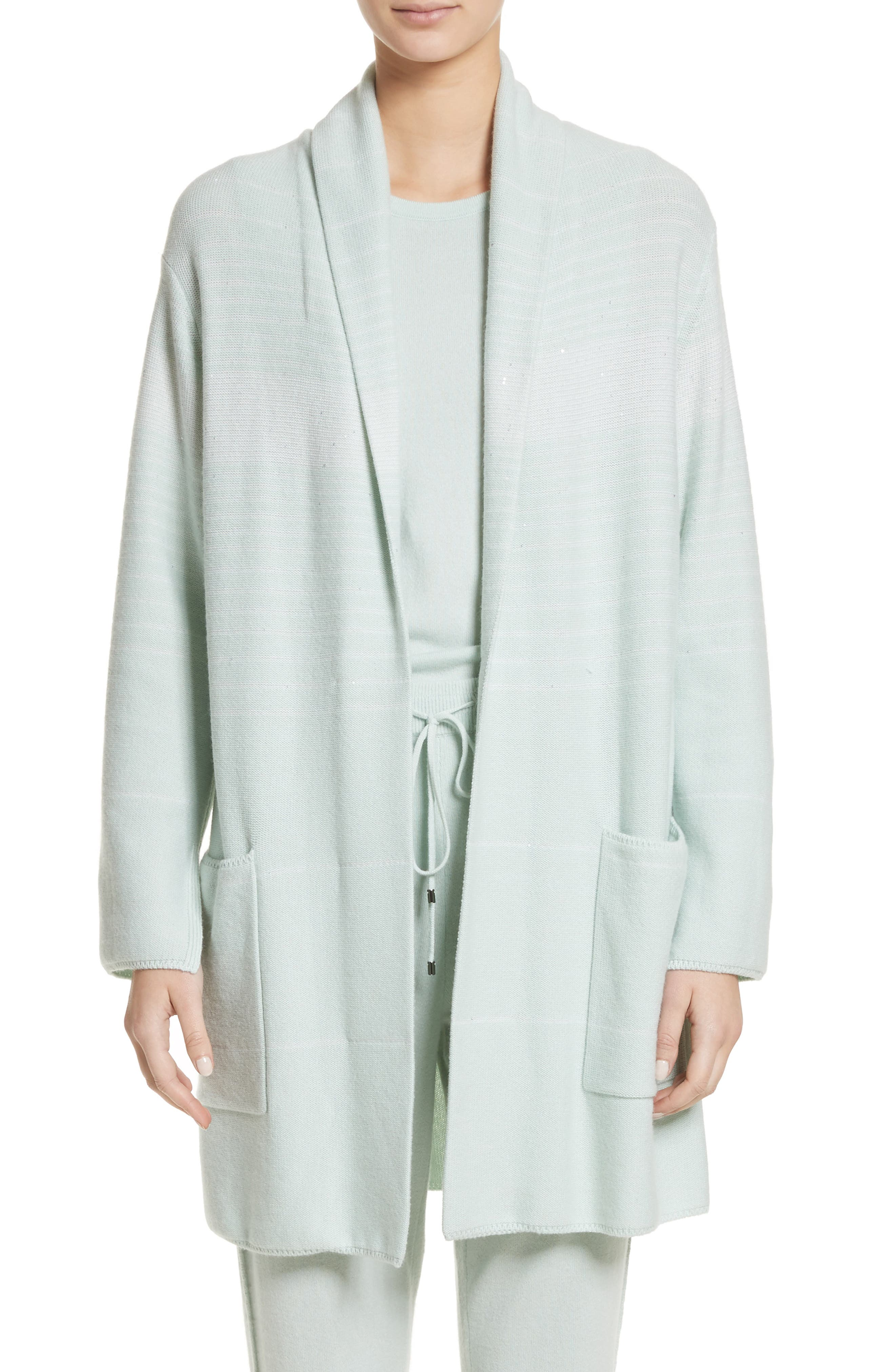 Main Image - St. John Collection Sequin Cashmere & Silk Cardigan