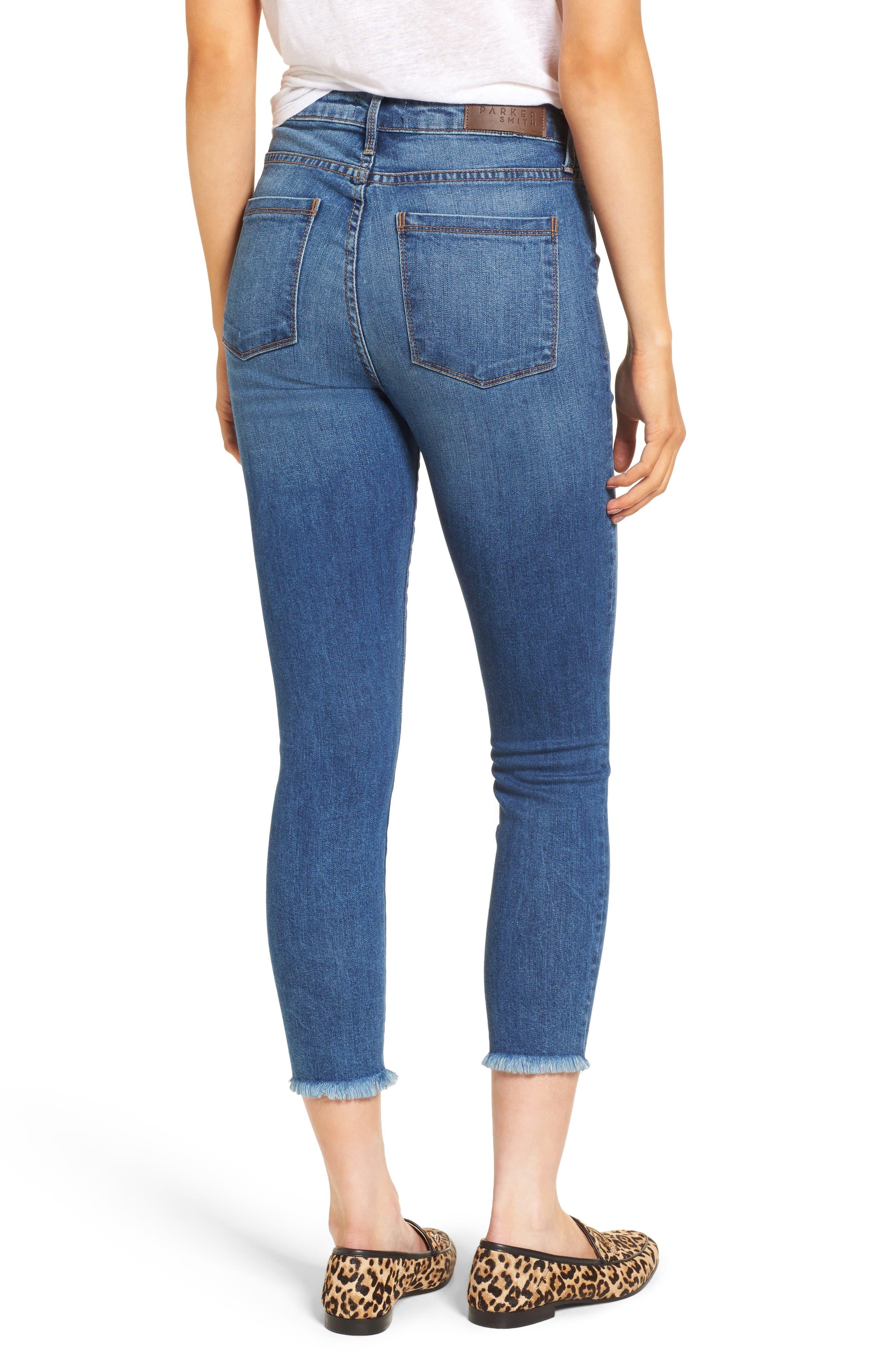 Bombshell Raw Hem Stretch Skinny Jeans,                             Alternate thumbnail 2, color,                             Dawn