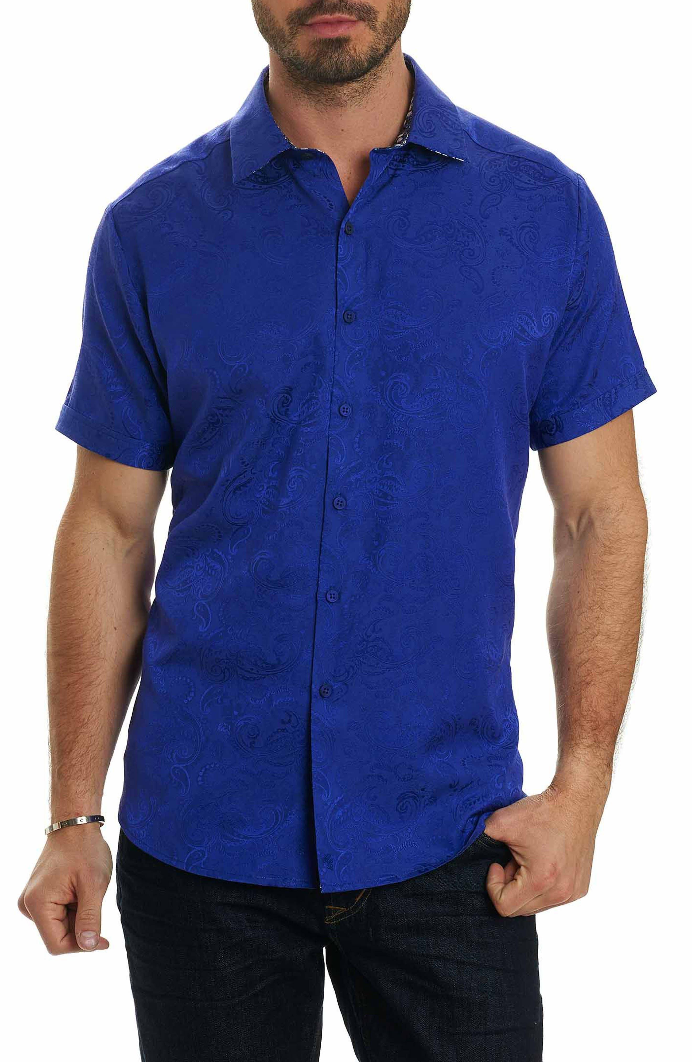 Tonal Paisley Classic Fit Sport Shirt,                         Main,                         color, Purple
