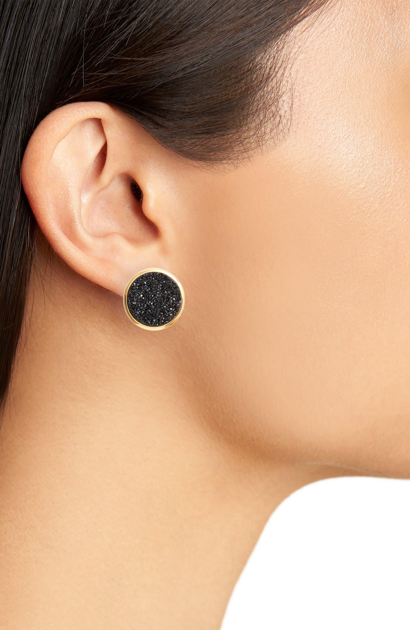 Alternate Image 3  - gorjana Astoria Large Drusy Stud Earrings