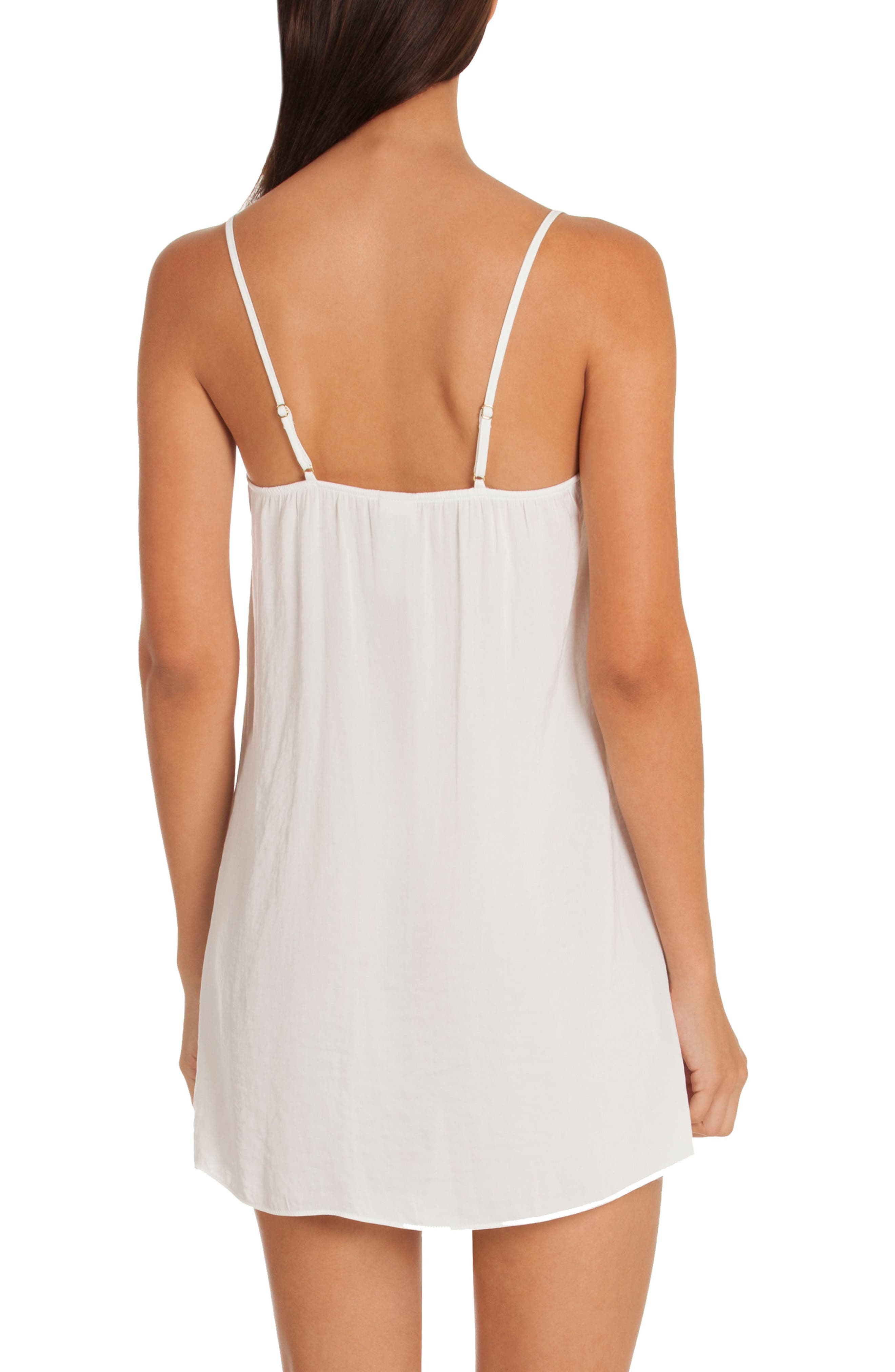 Byzantine Washed Satin Chemise,                             Alternate thumbnail 2, color,                             Ivory