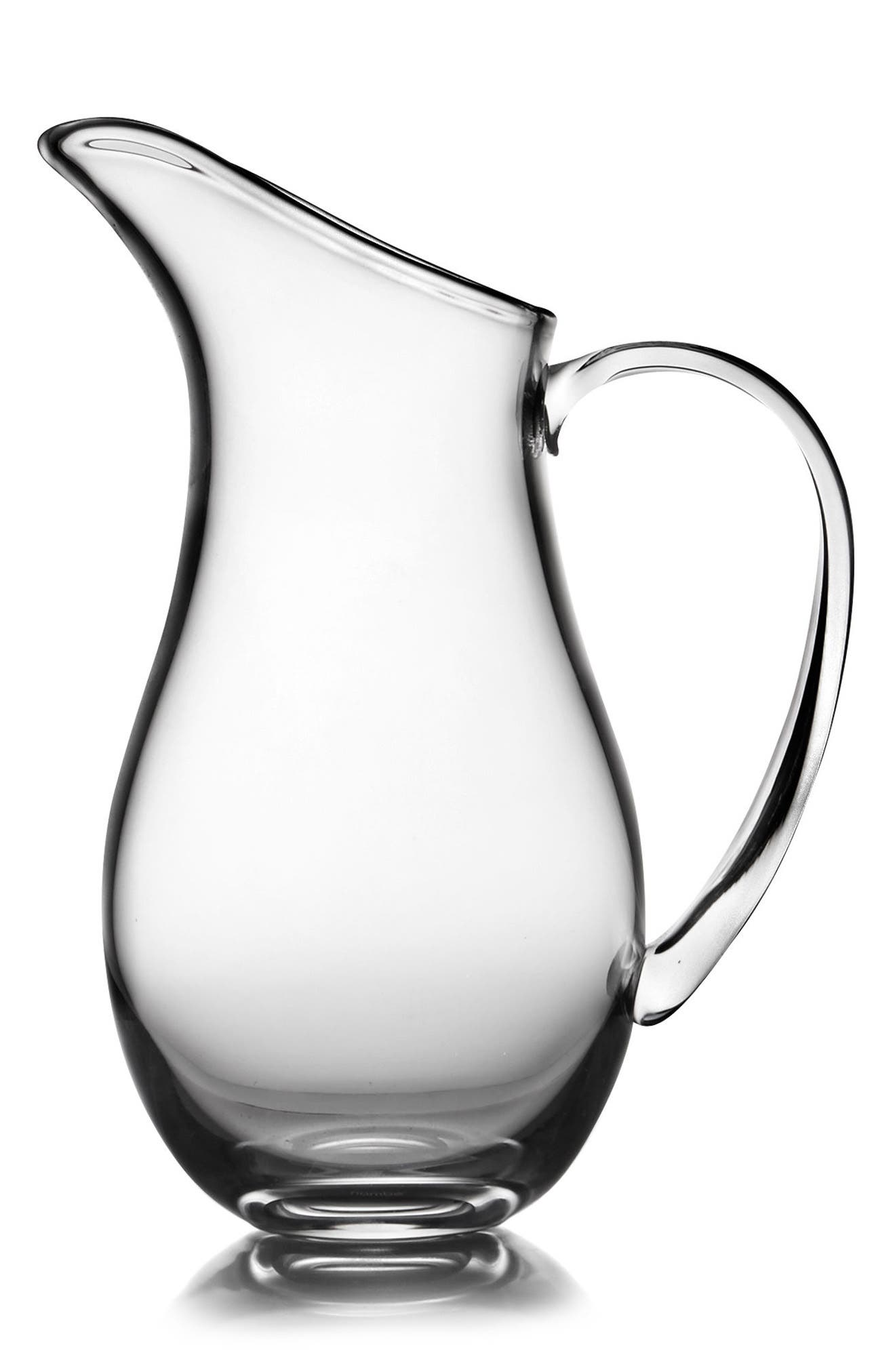 Moderne Large Pitcher,                         Main,                         color, Clear
