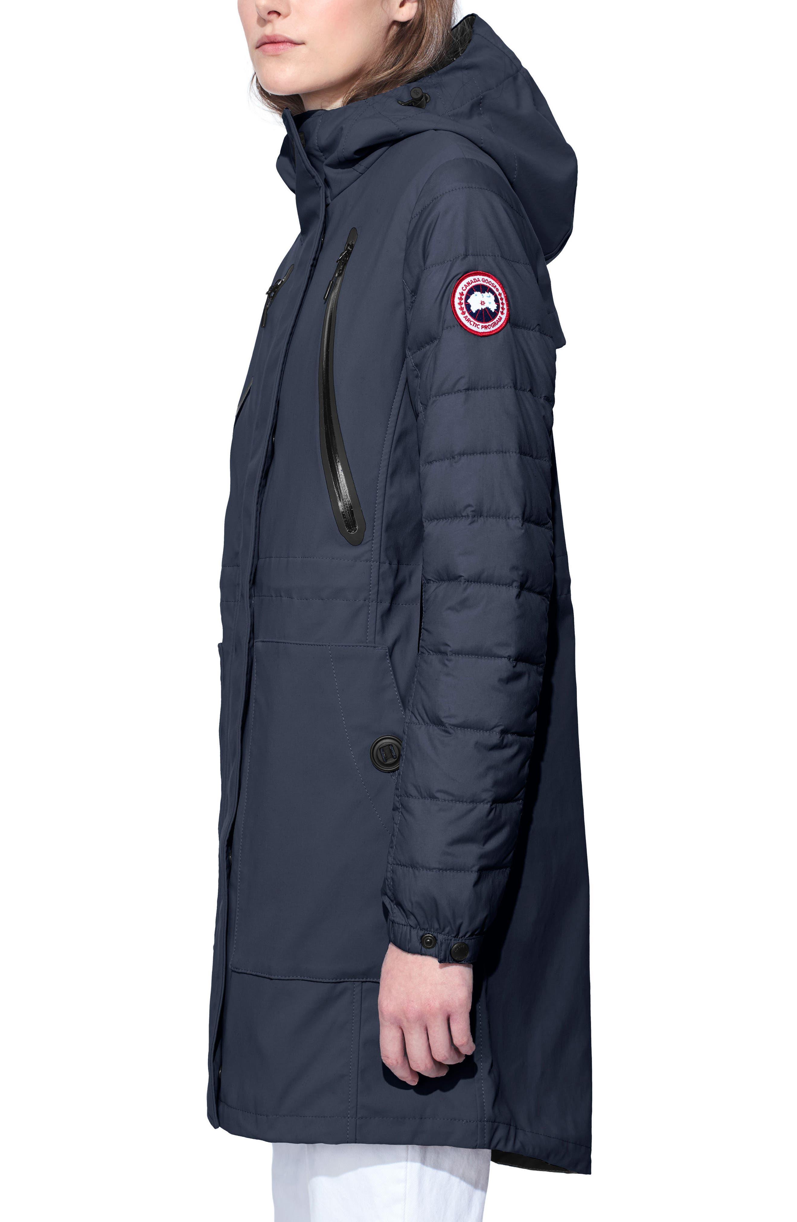 Sabine Coat,                             Alternate thumbnail 3, color,                             Polar Sea/ Black