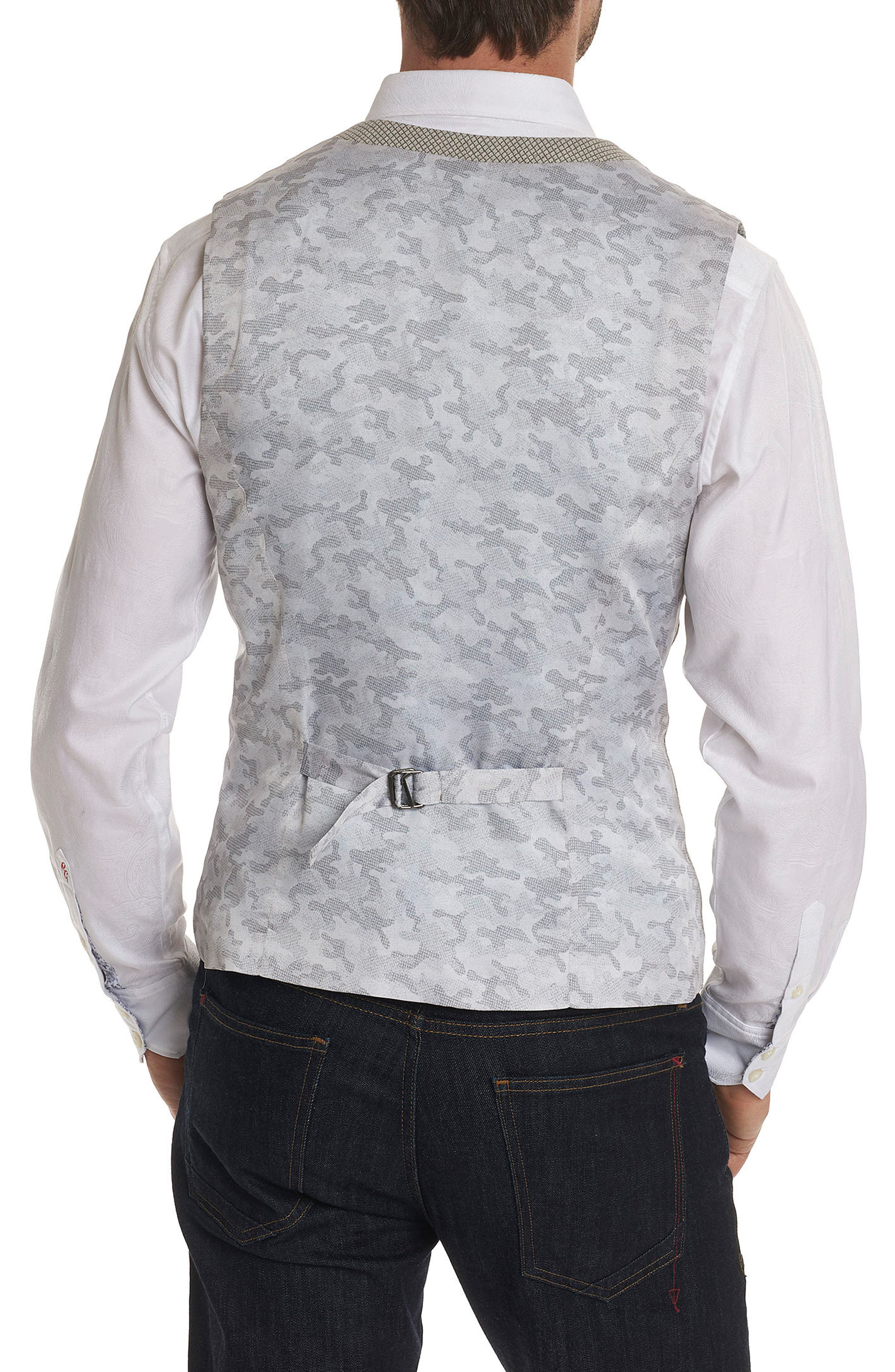 Classic Fit Woven Vest,                             Alternate thumbnail 2, color,                             Grey