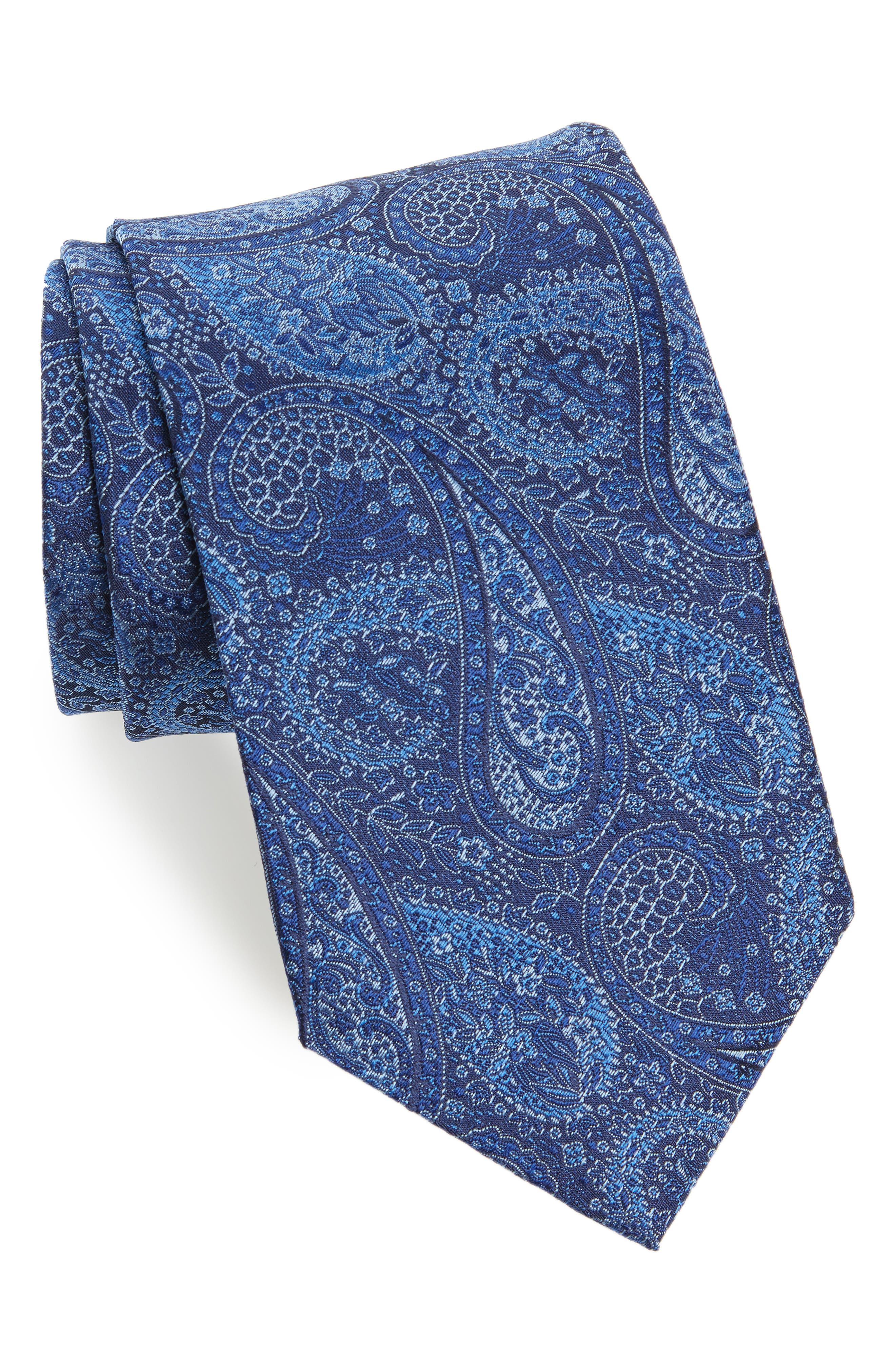 David Donahue Paisley Silk Tie (X-Long)