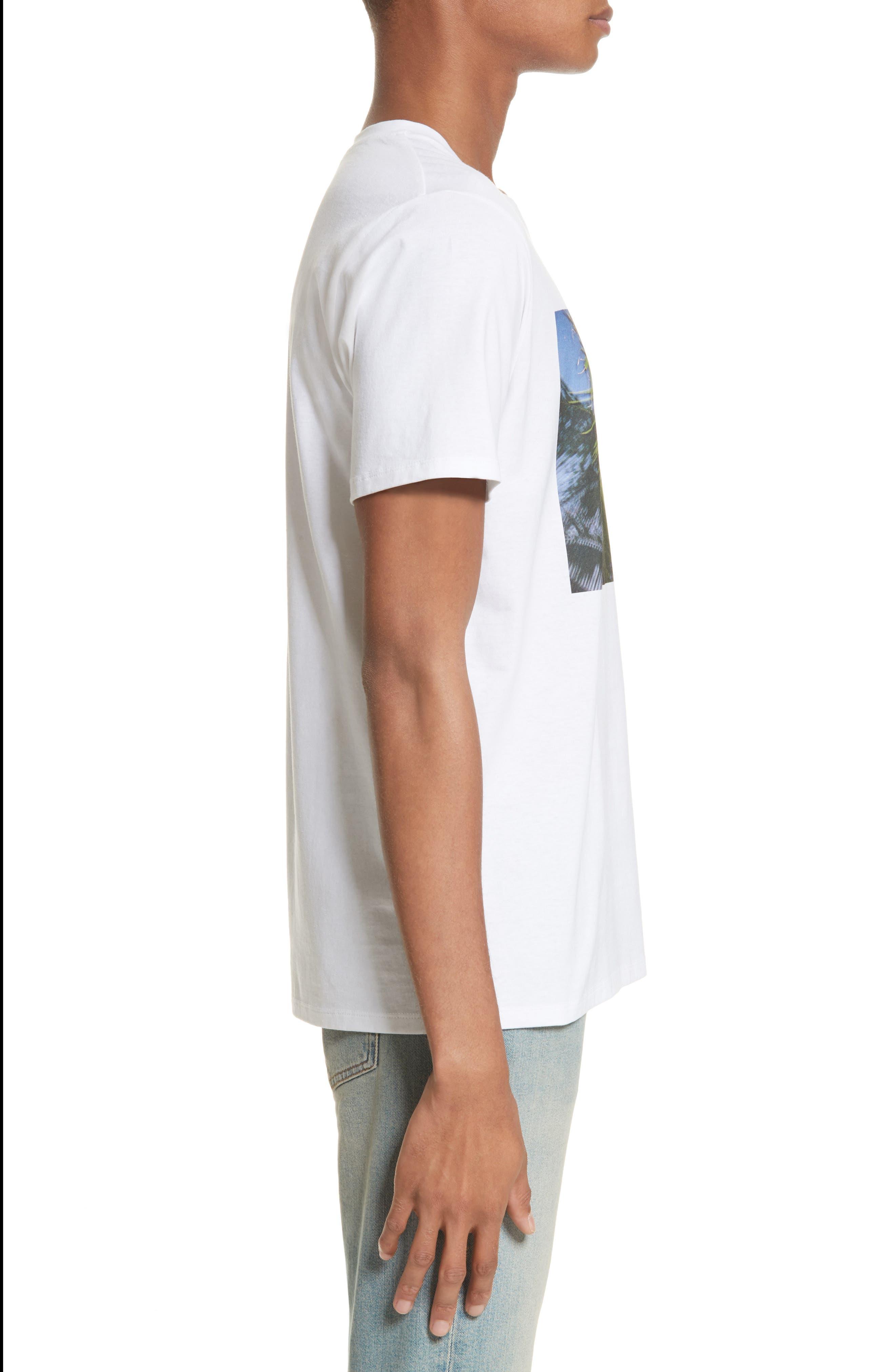Palm Tree Graphic T-Shirt,                             Alternate thumbnail 3, color,                             Blanc Aab