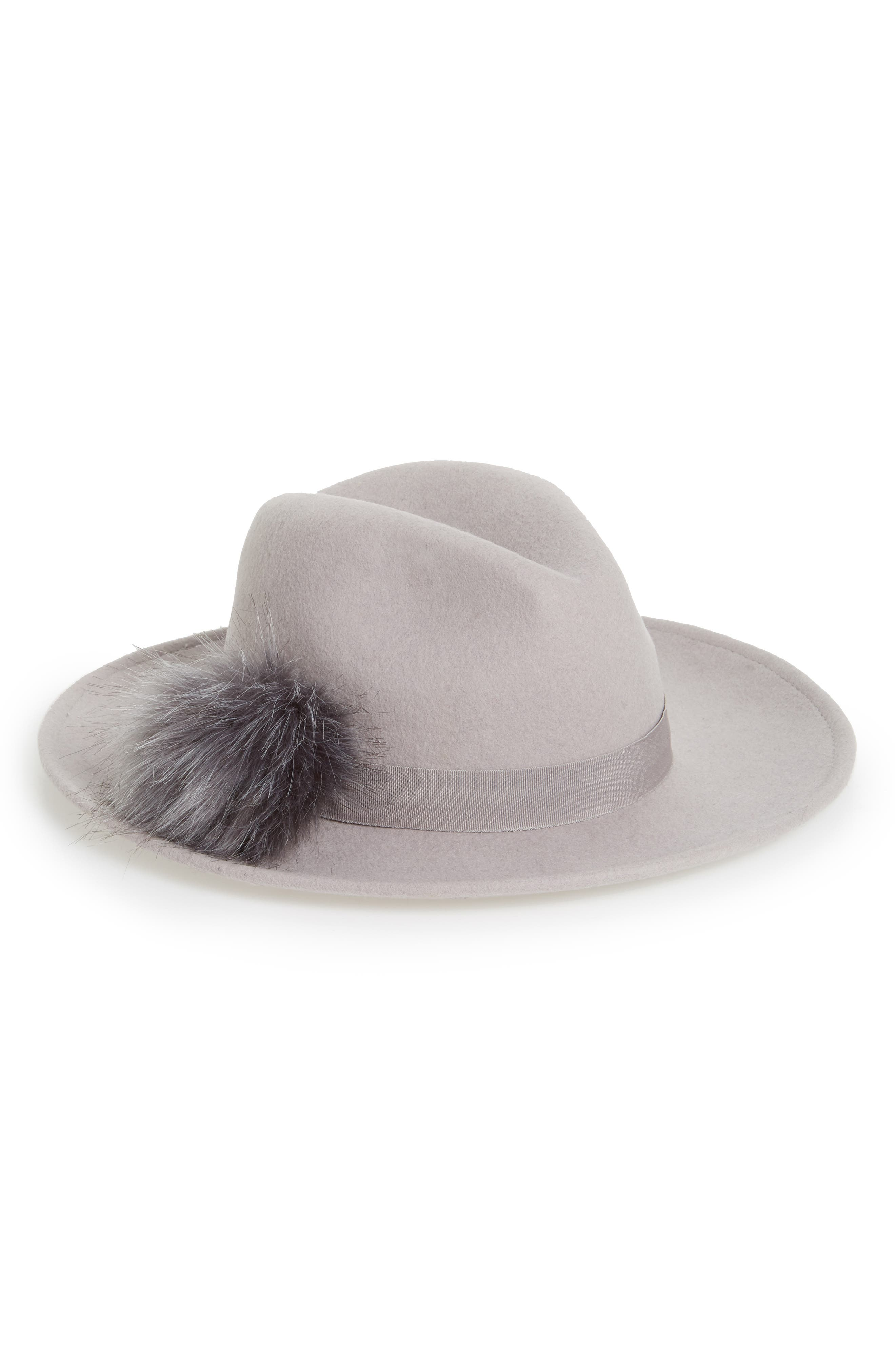 Alternate Image 1 Selected - BP. Faux Fur Pompom Fedora