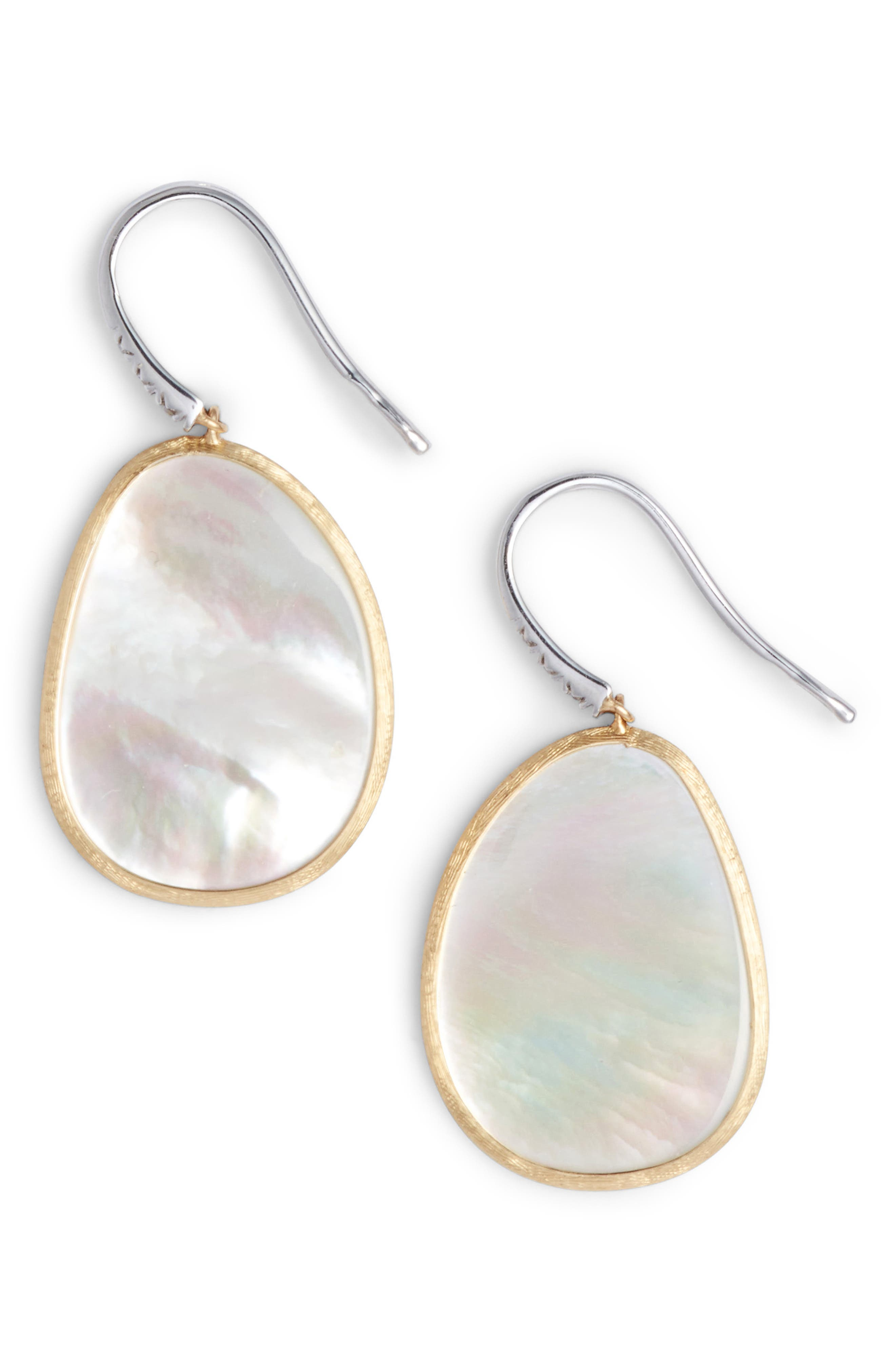Alternate Image 1 Selected - Marco Bicego Lunaria Mother of Pearl Drop Earrings