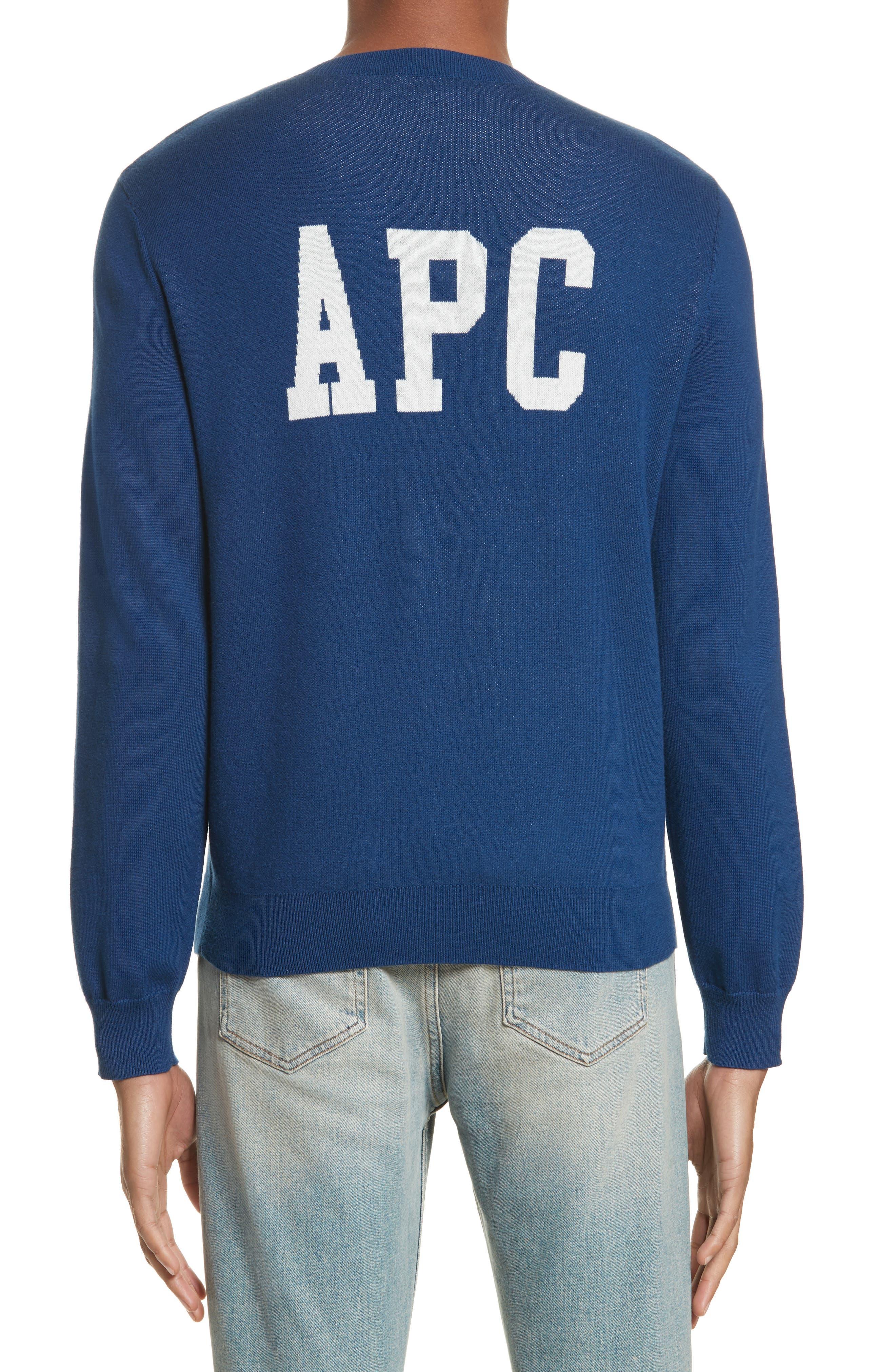 CIA Crewneck Sweater,                             Alternate thumbnail 2, color,                             Bleu Fonce Iah