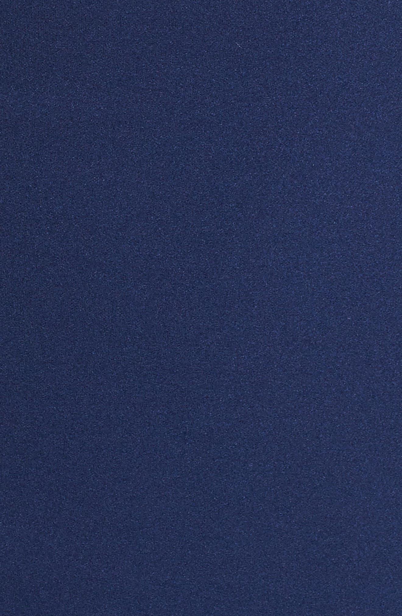 Cold Shoulder Sheath Dress,                             Alternate thumbnail 5, color,                             Navy Sateen