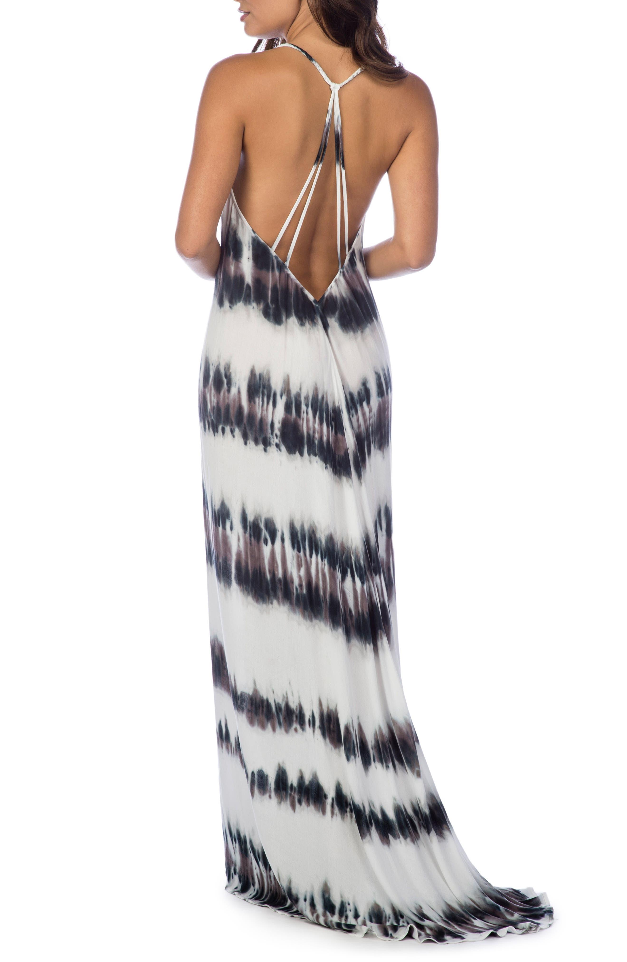 Stripe Maxi Dress,                             Alternate thumbnail 2, color,                             Pebble
