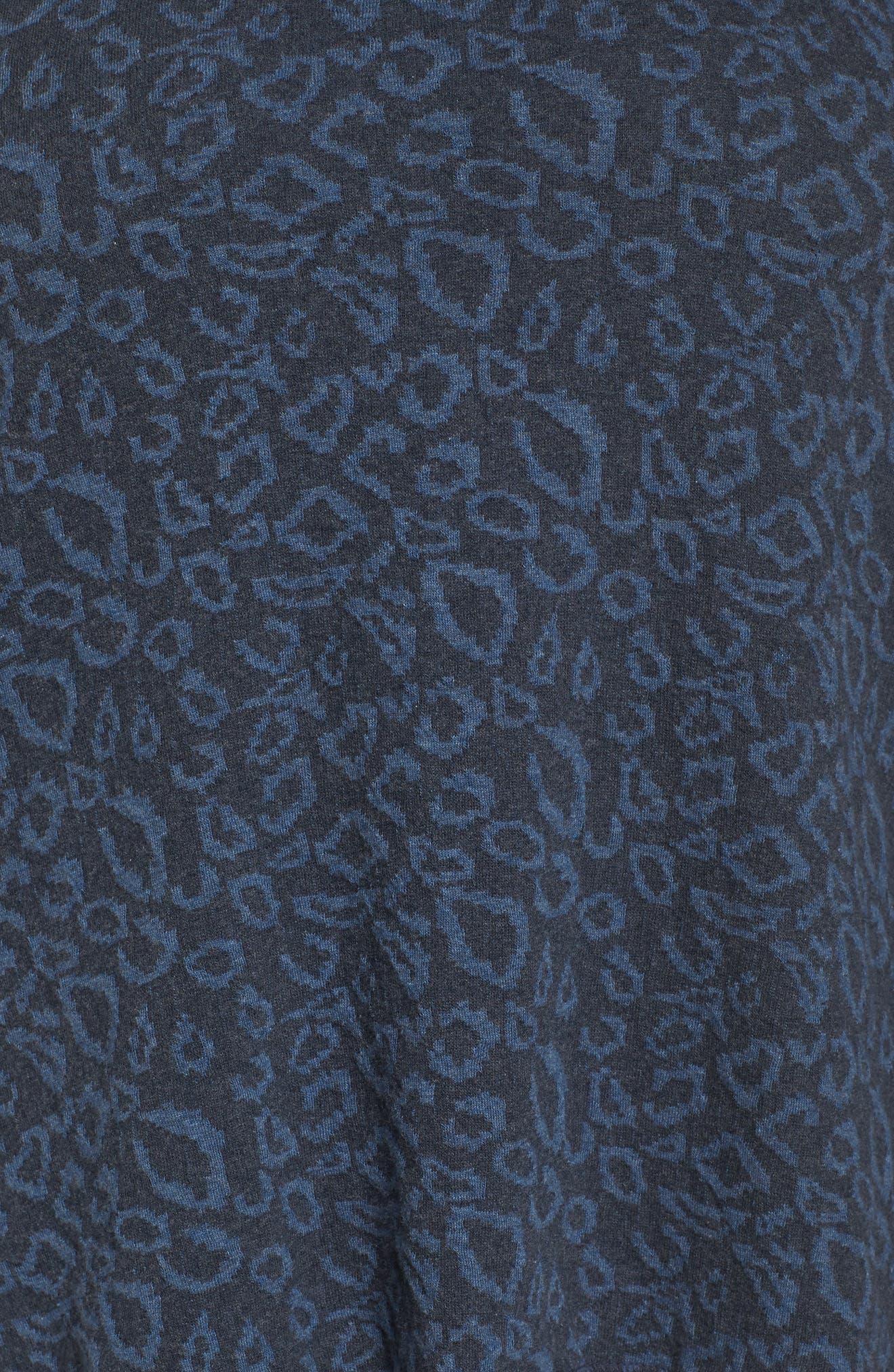 Cheetah Print Top,                             Alternate thumbnail 5, color,                             Blue Multi