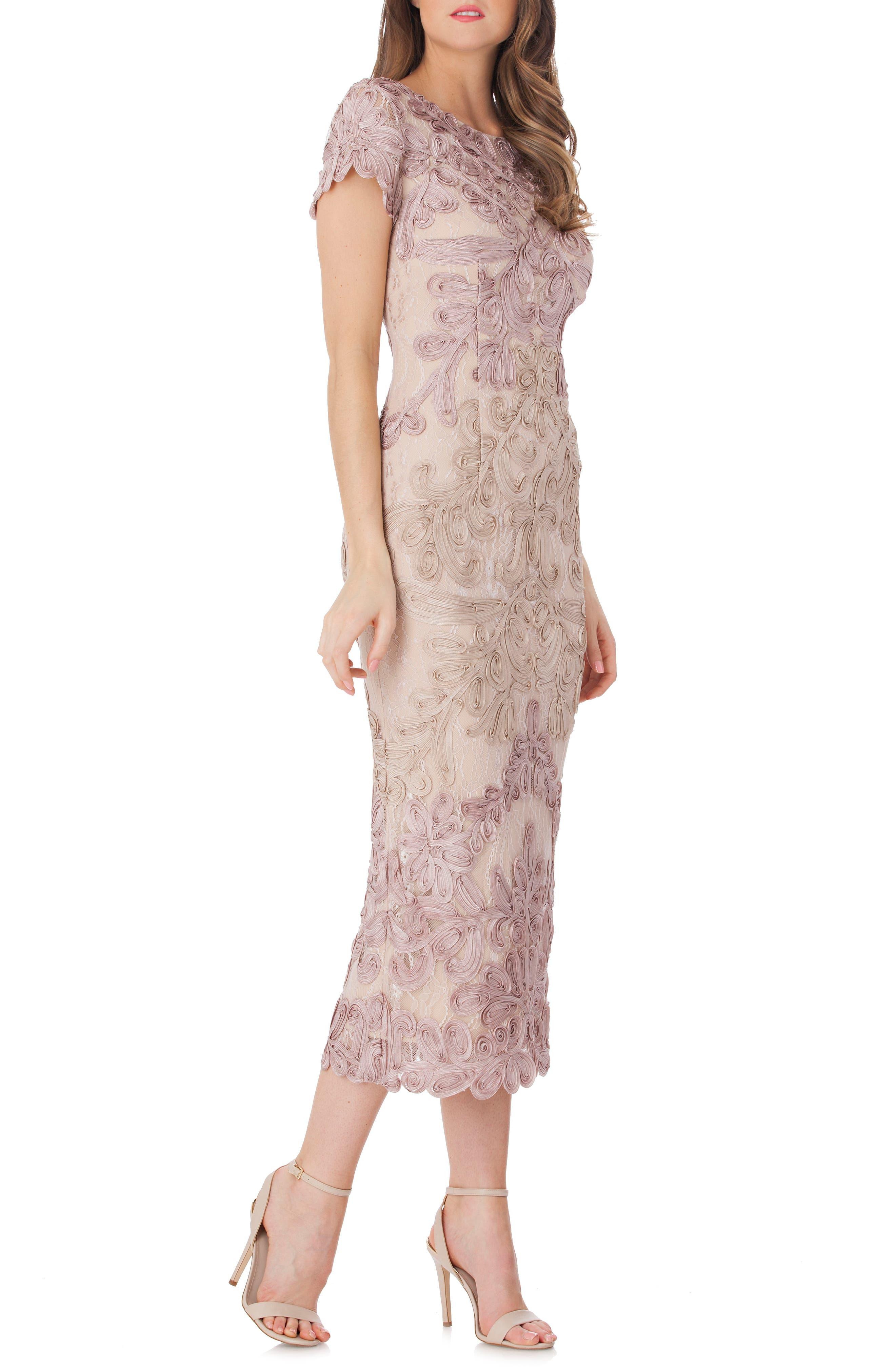 Main Image - JS Collections Soutache Lace Midi Dress