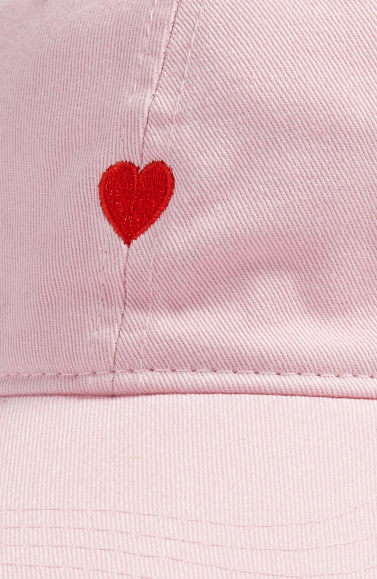 Alternate Image 3  - Body Rags Clothing Co. Micro Heart Baseball Cap