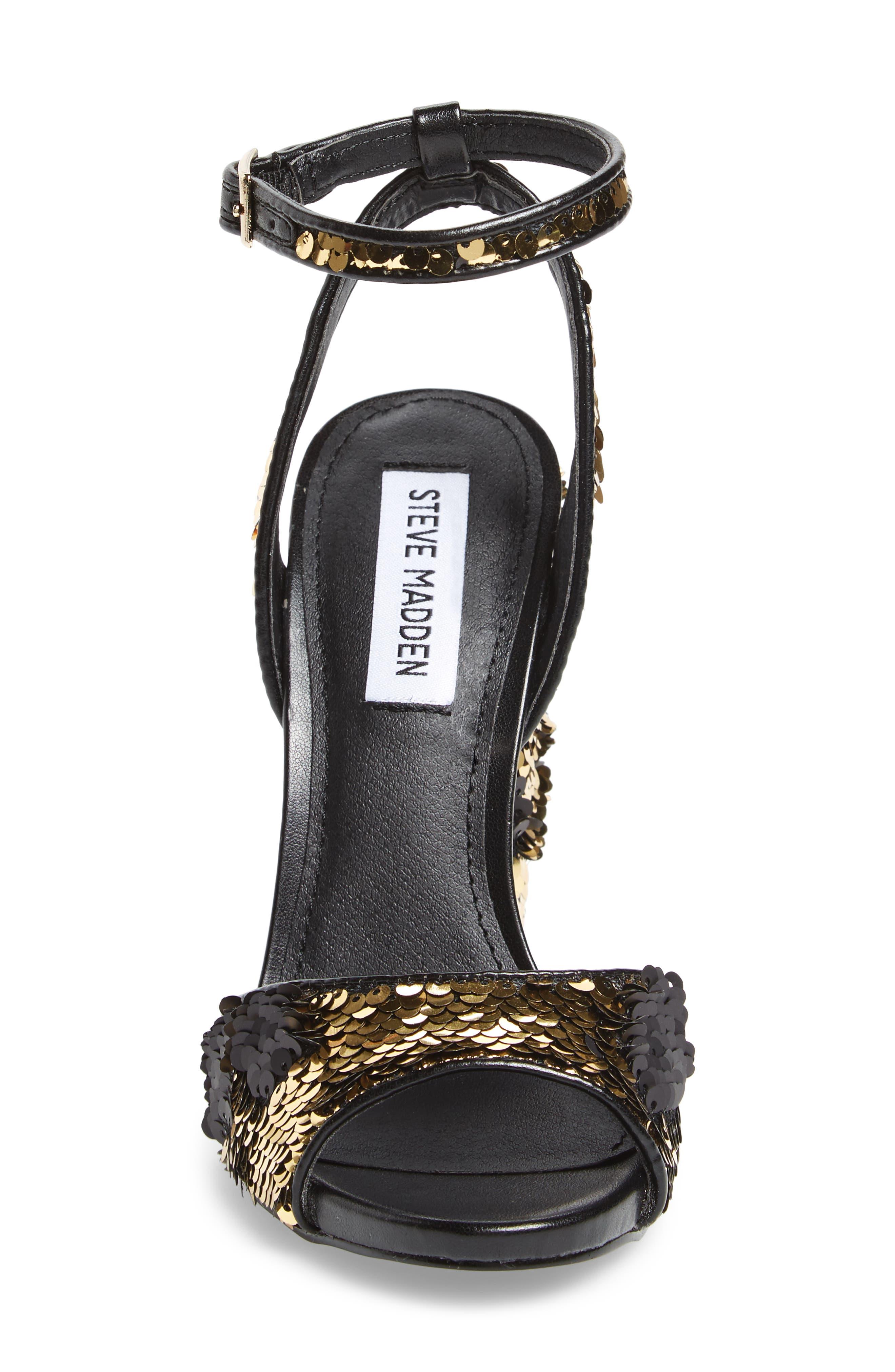 Ritzy Flip Sequin Sandal,                             Alternate thumbnail 4, color,                             Gold