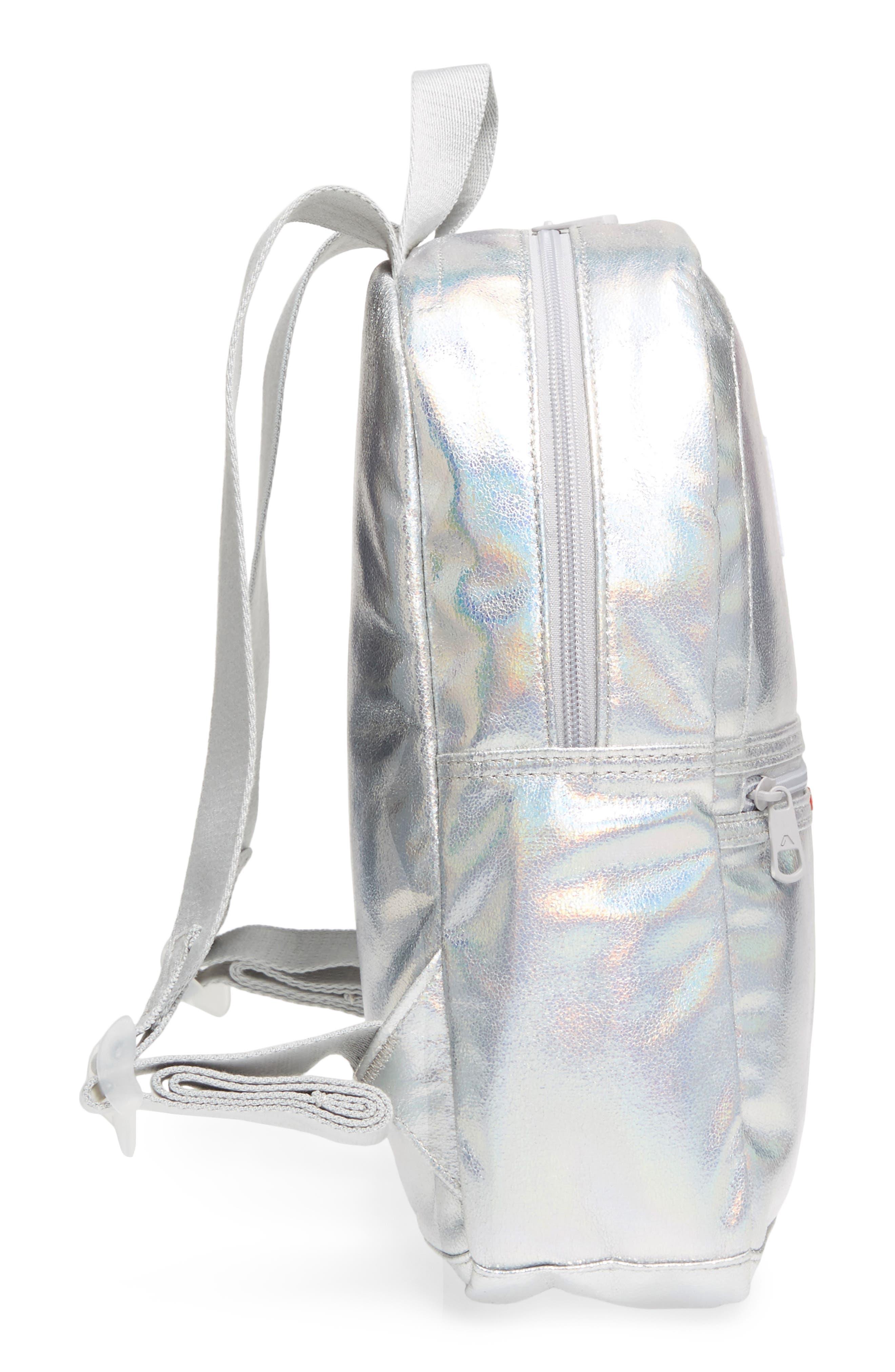 Starrett City - Mini Kane Iridescent Backpack,                             Alternate thumbnail 5, color,                             Silver