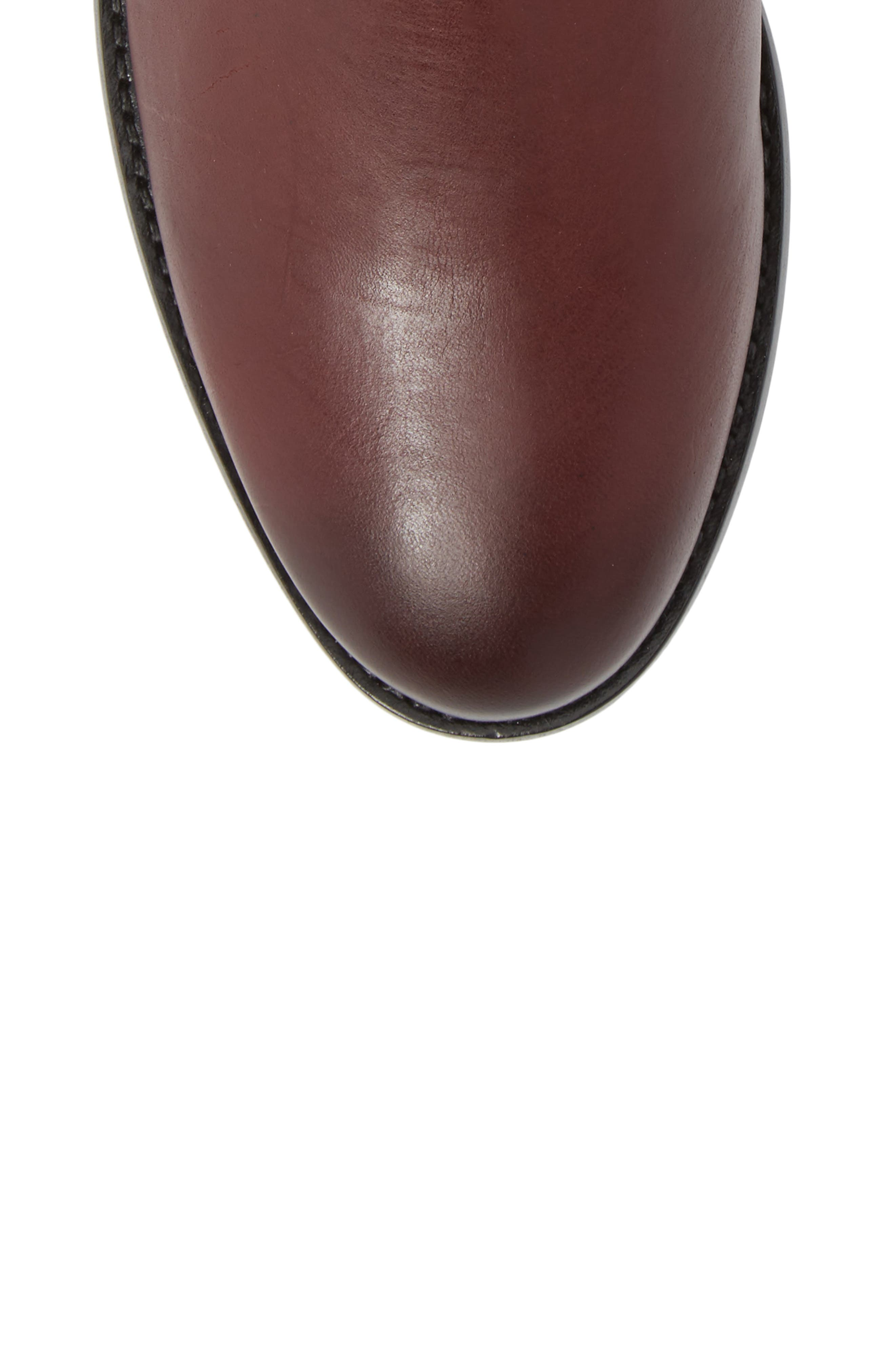 Melissa Chelsea Boot,                             Alternate thumbnail 5, color,                             Wine