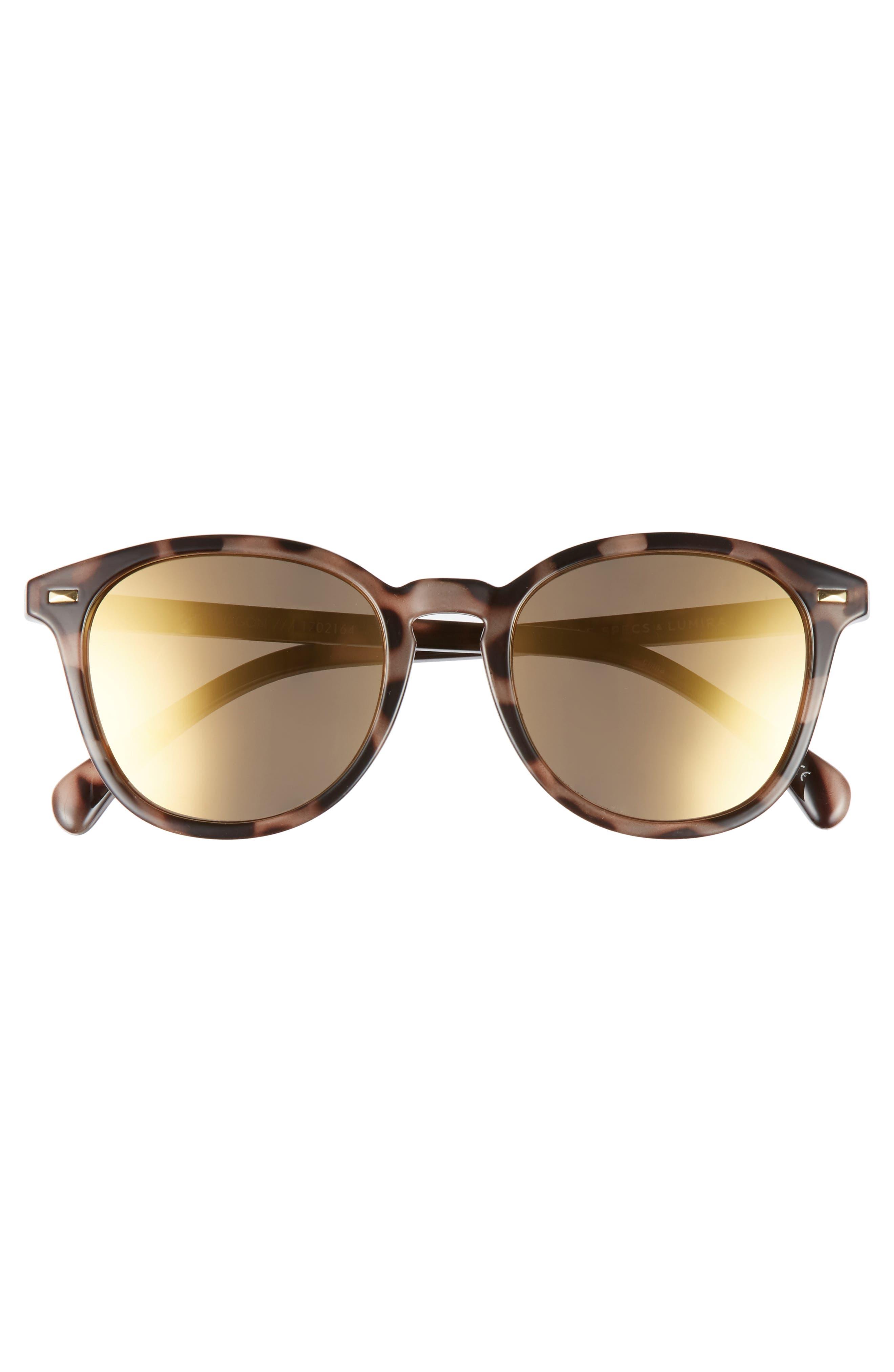 x Lumira Bandwagon 51mm Sunglasses & Candle Gift Set,                             Alternate thumbnail 4, color,                             Volcanic Tort