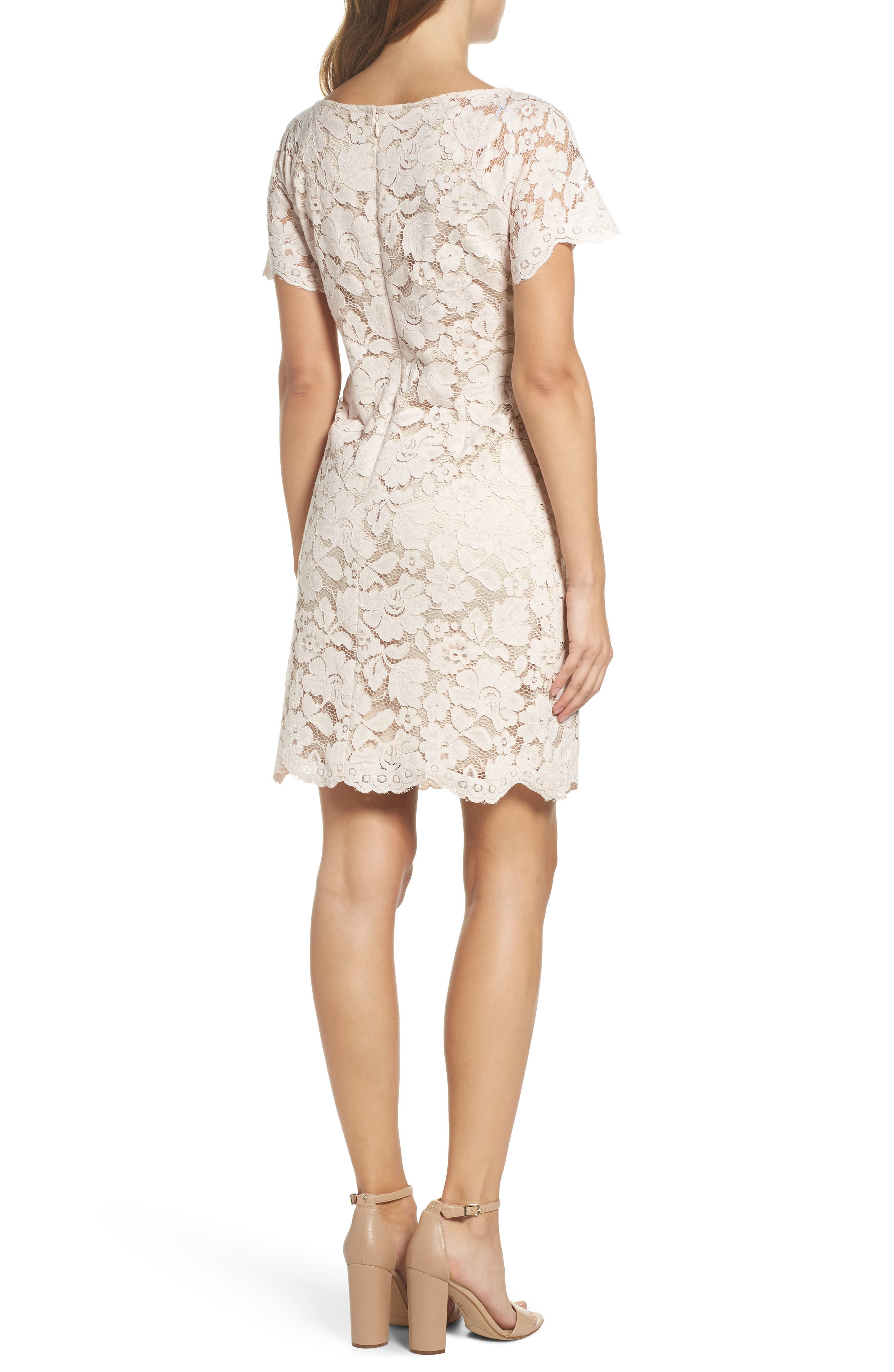 Alternate Image 2  - Vince Camuto Lace Shift Dress