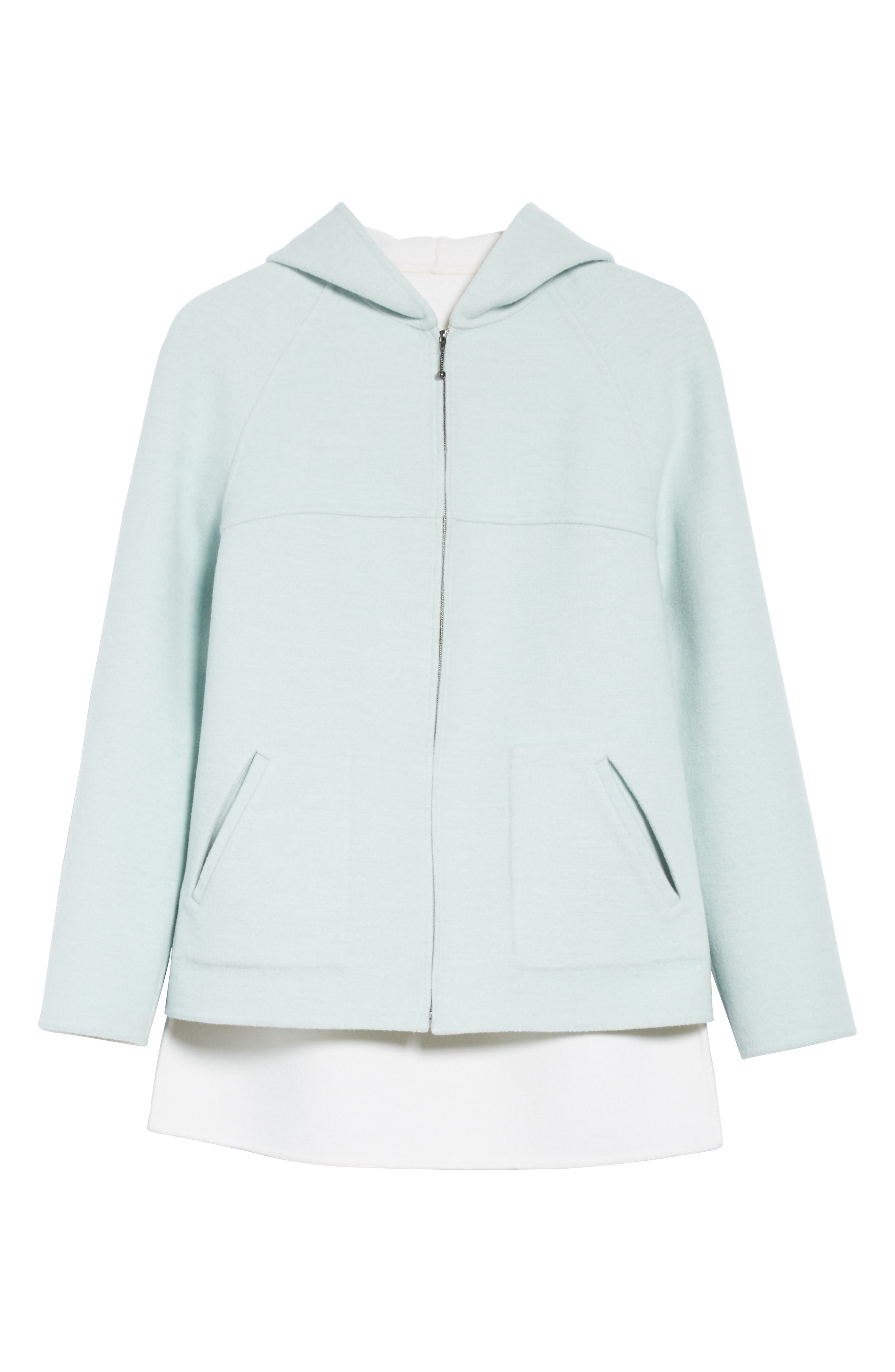Reversible Wool & Angora Blend Sweatshirt,                             Alternate thumbnail 7, color,                             Mint/ Frost