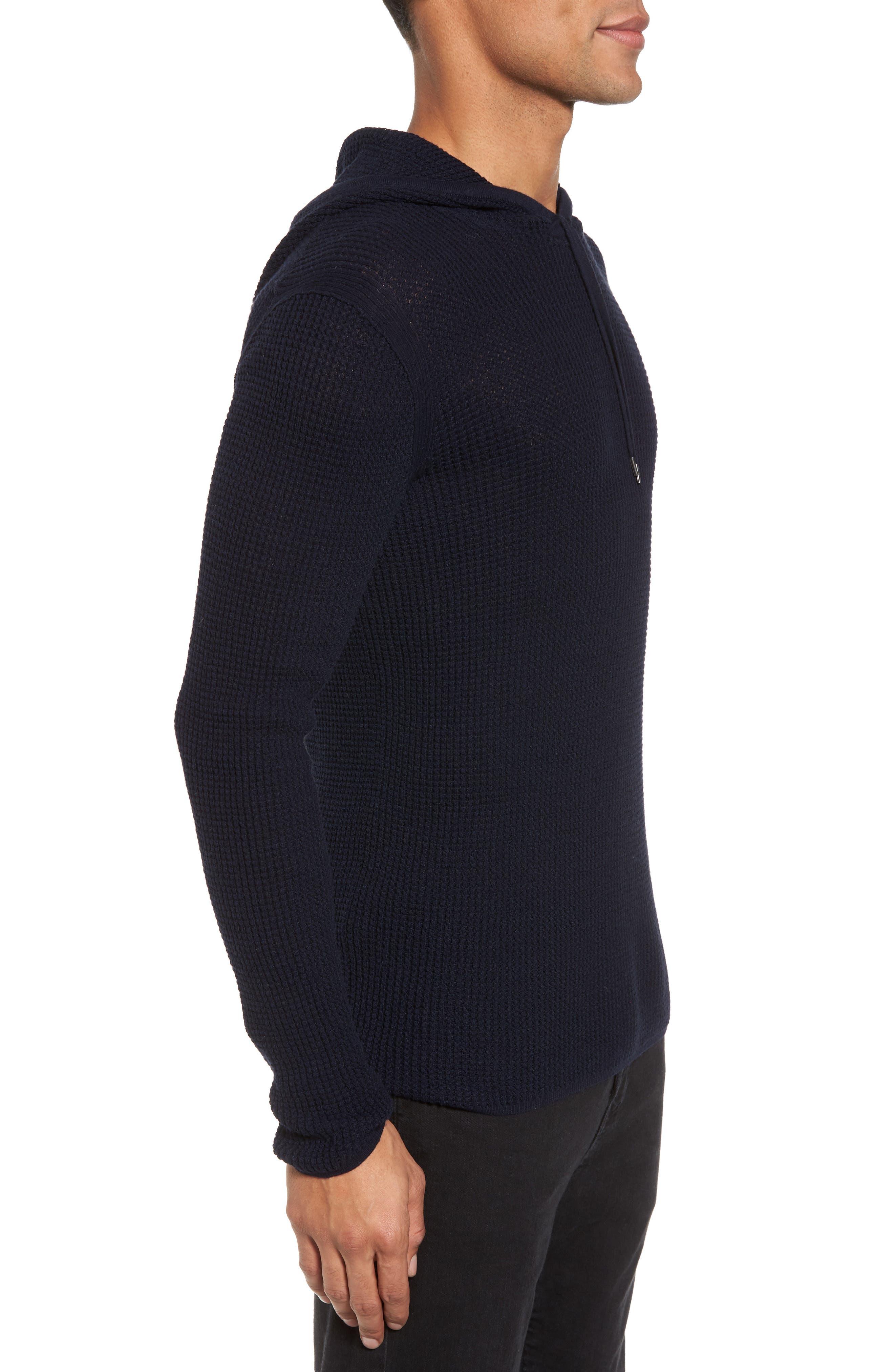 Thermal Pullover Hoodie,                             Alternate thumbnail 3, color,                             Marine