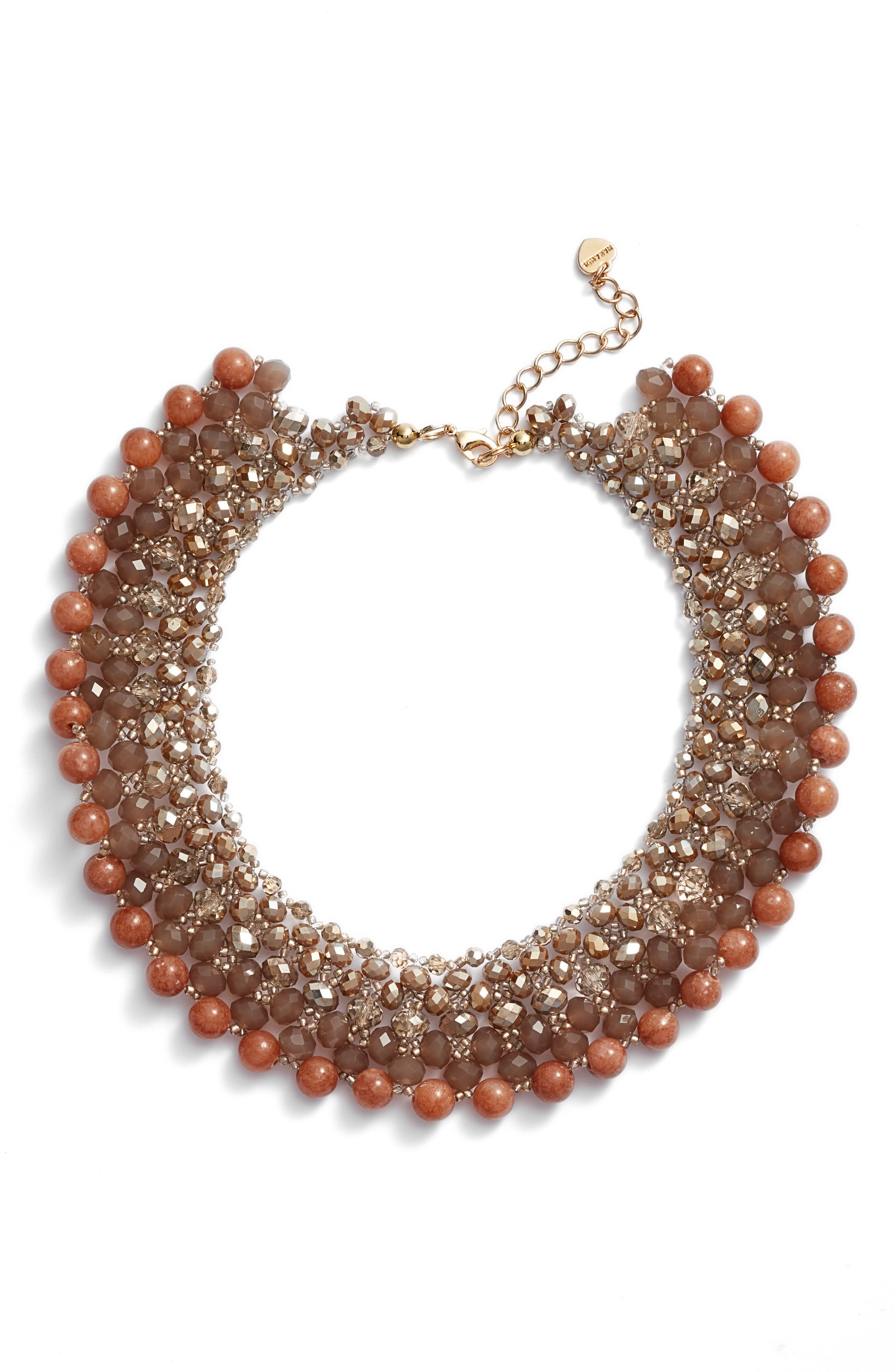 Alternate Image 1 Selected - Nakamol Design Crochet Stone Collar Necklace