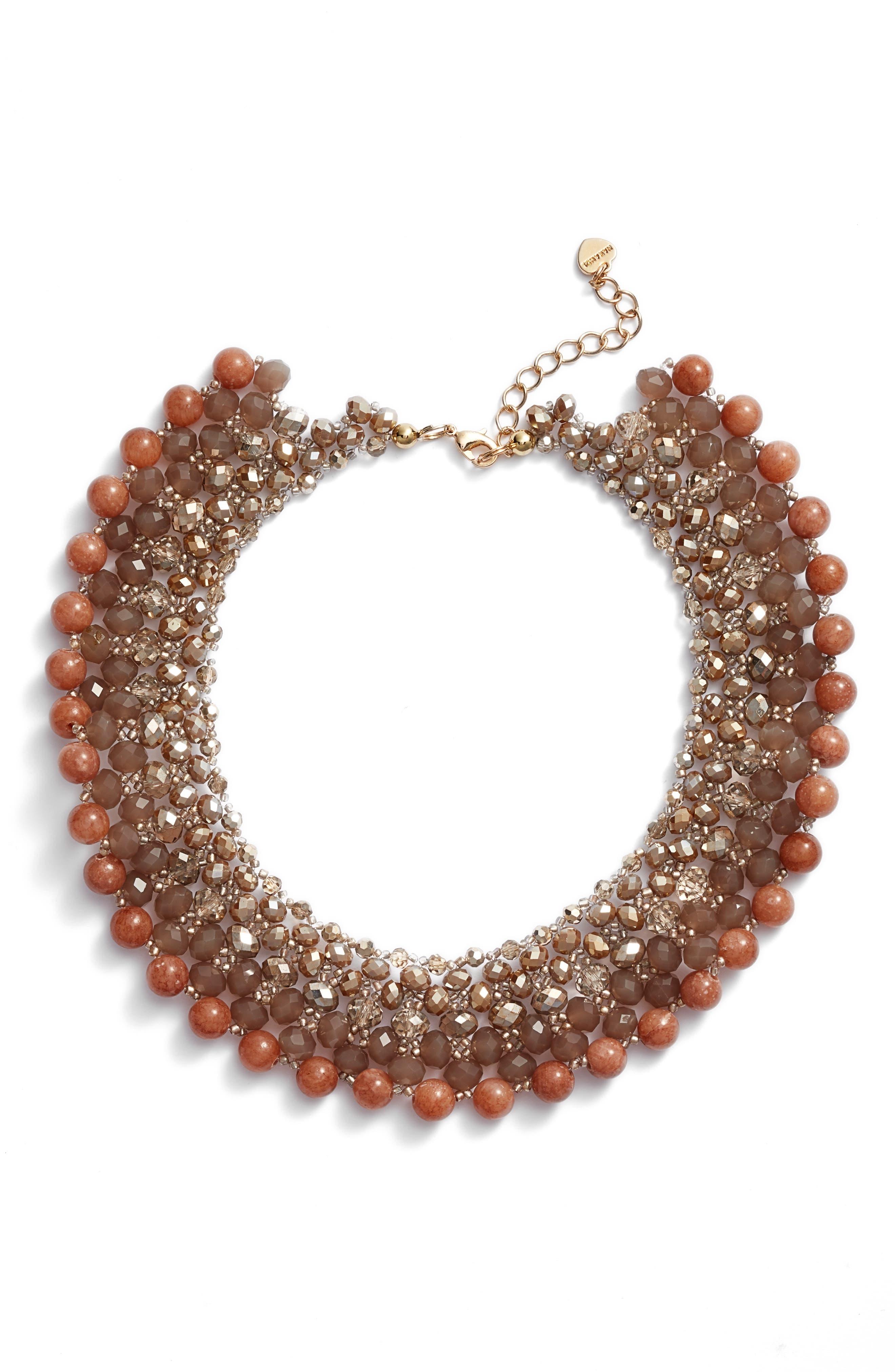 Main Image - Nakamol Design Crochet Stone Collar Necklace