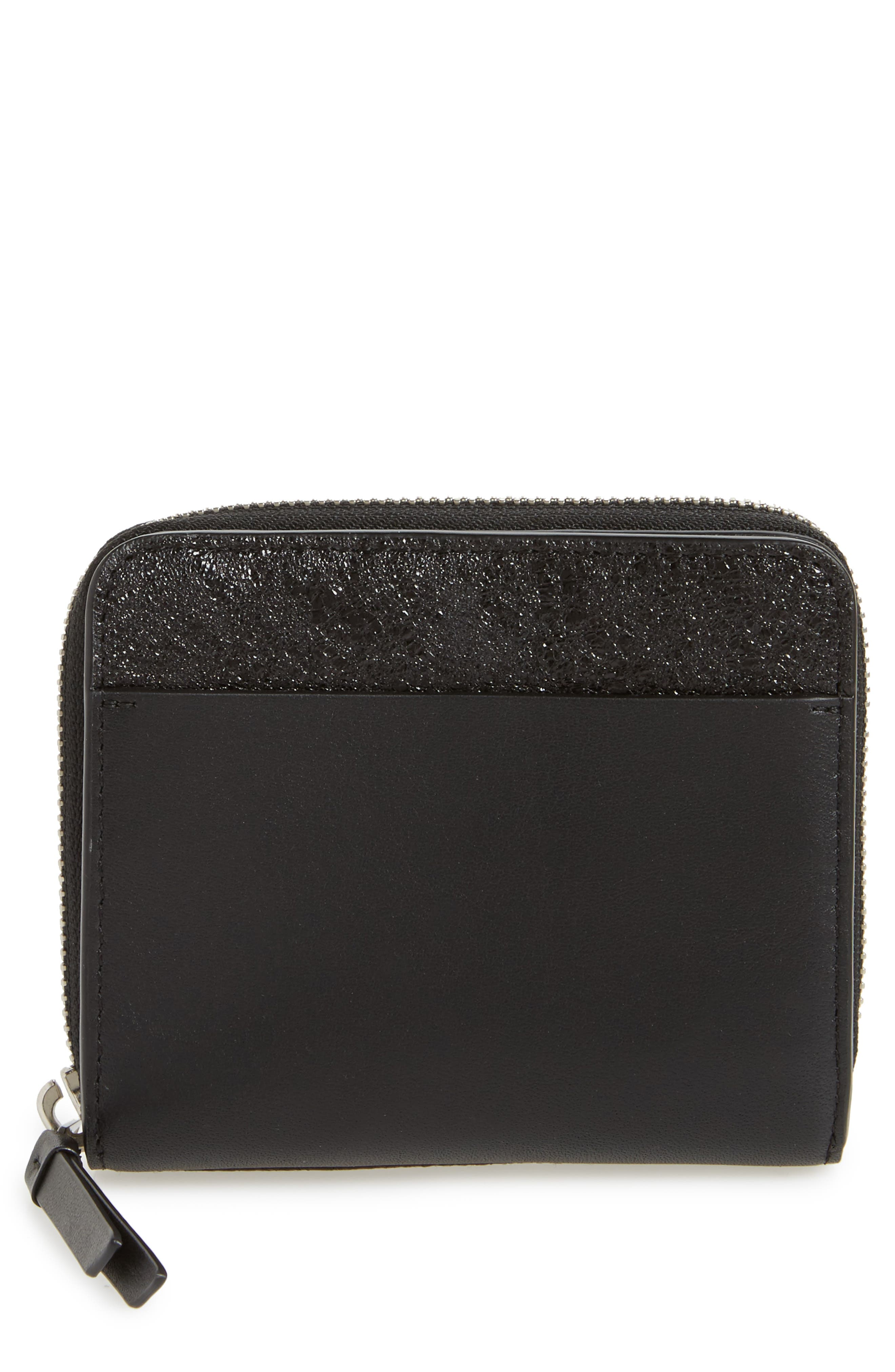 Mast Shine Leather Wallet,                         Main,                         color, Black