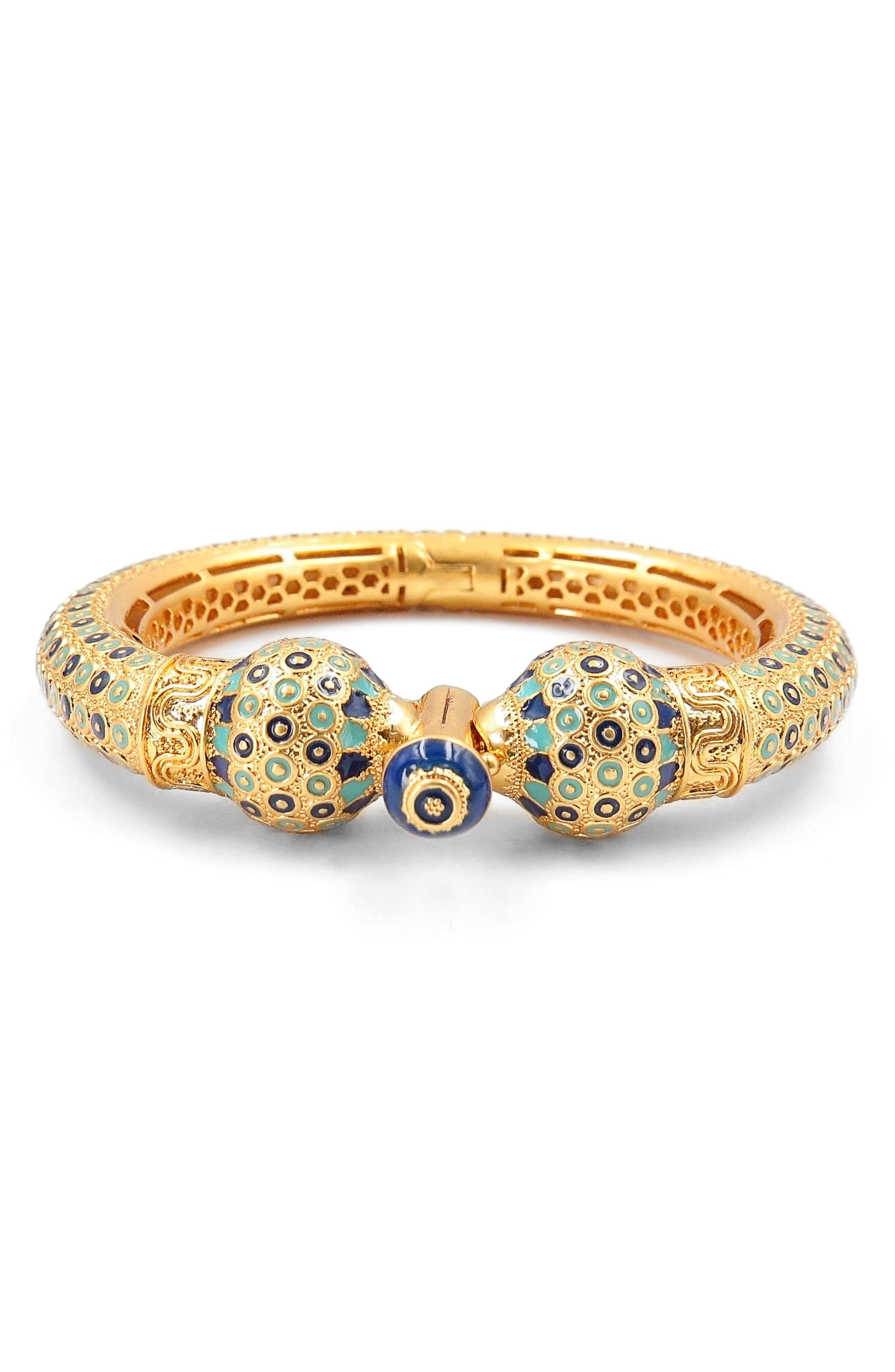 Enameled Bangle,                         Main,                         color, Gold