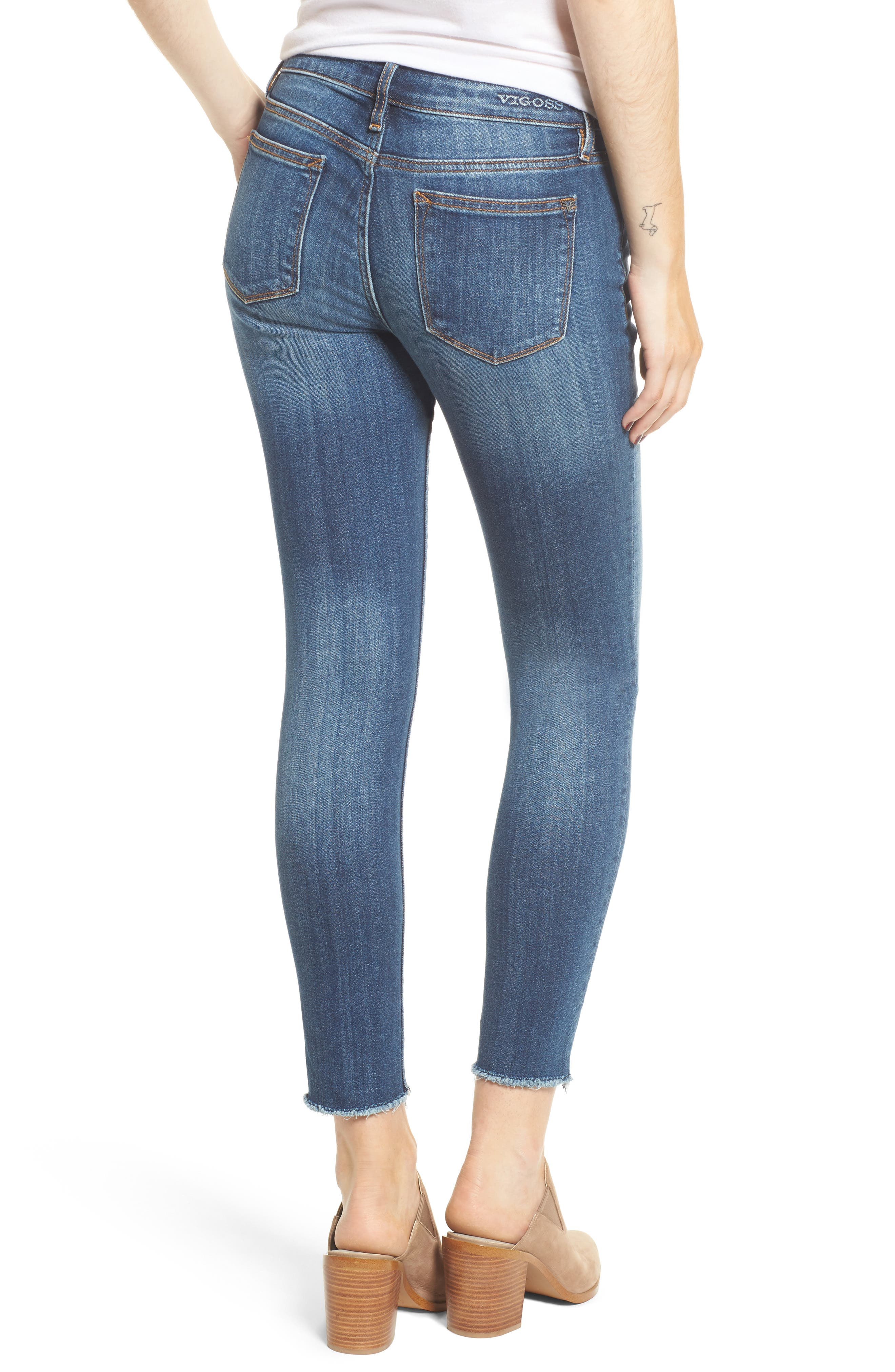 Jagger Mid-Rise Skinny Jeans,                             Alternate thumbnail 2, color,                             Med Wash