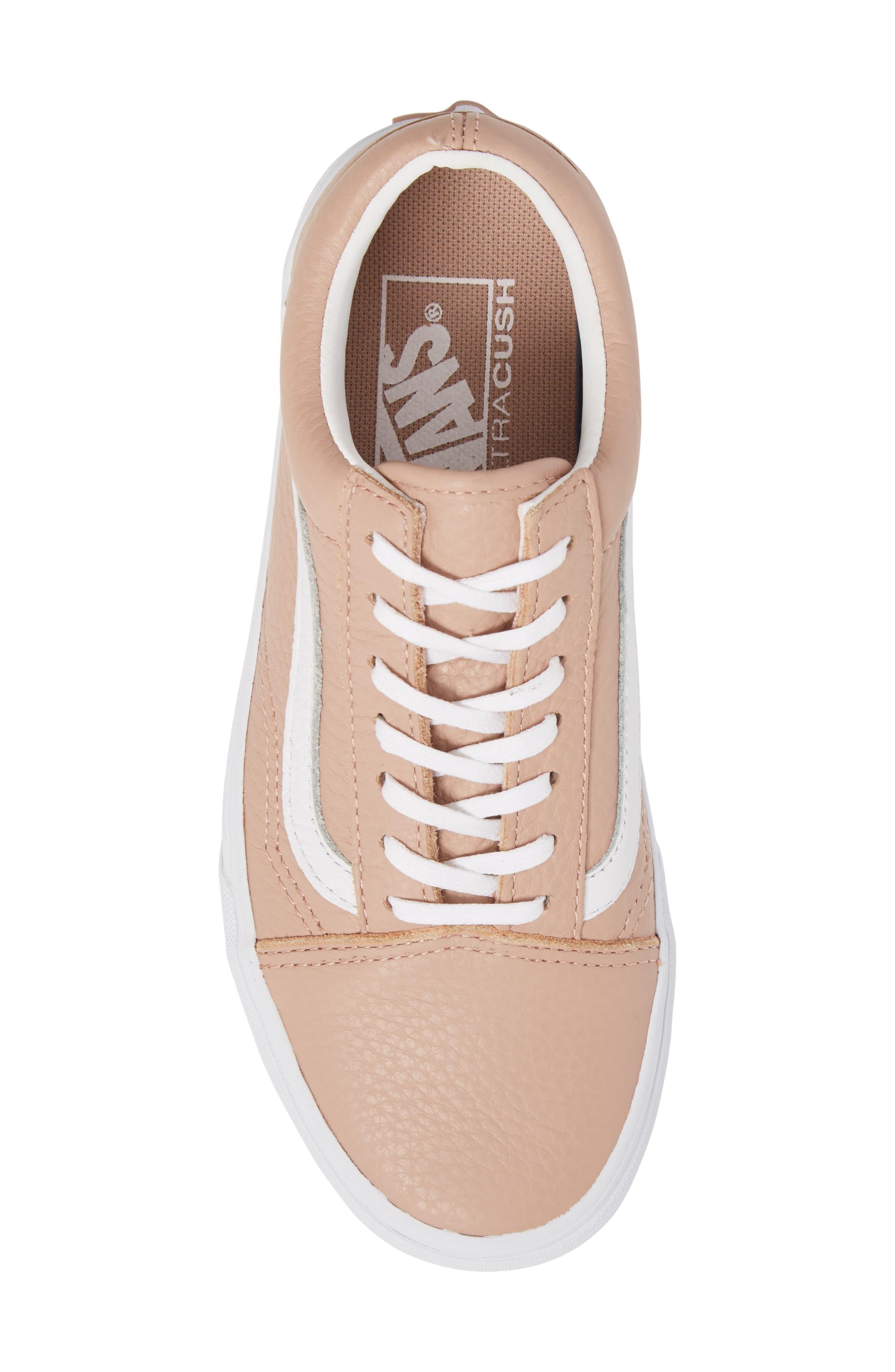 Old Skool DX Sneaker,                             Alternate thumbnail 5, color,                             Mahogany Rose/ True White