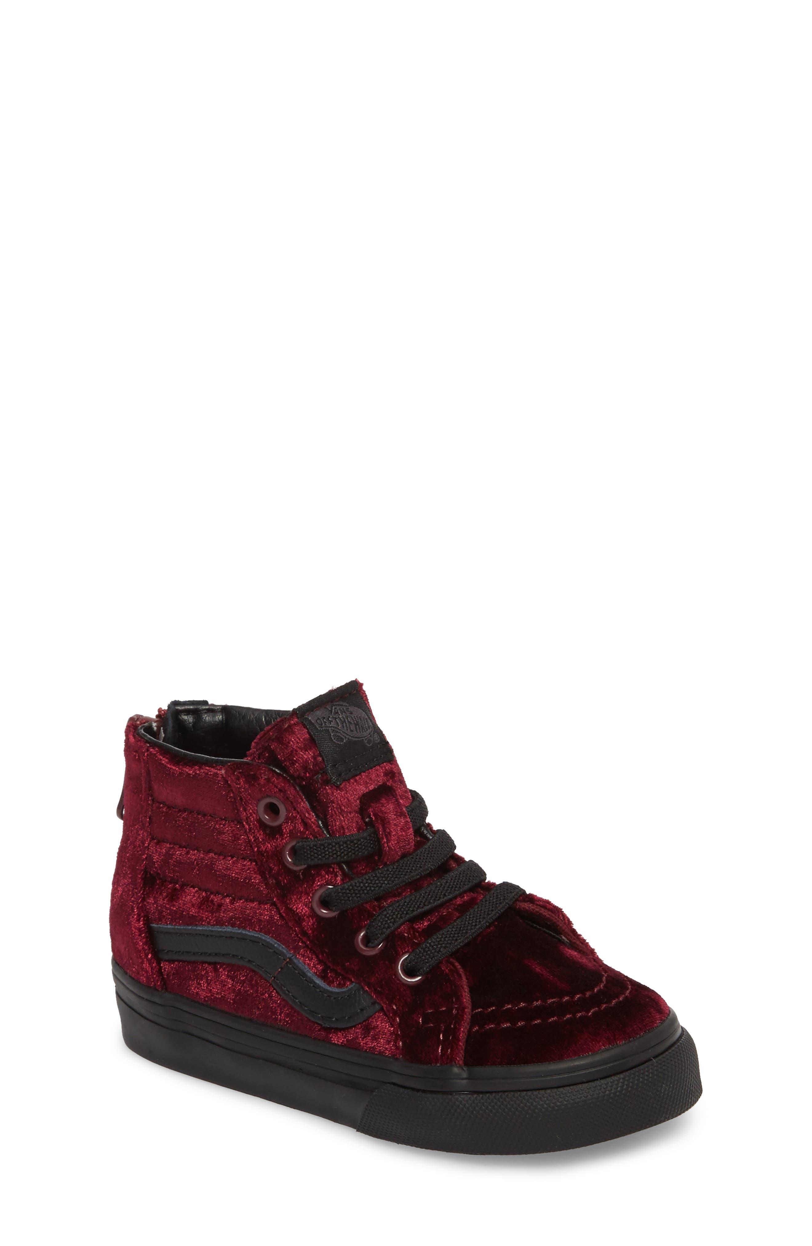 red vans shoes for girls. vans sk8-hi zip sneaker (baby walker, toddler, little kid \u0026 big red shoes for girls