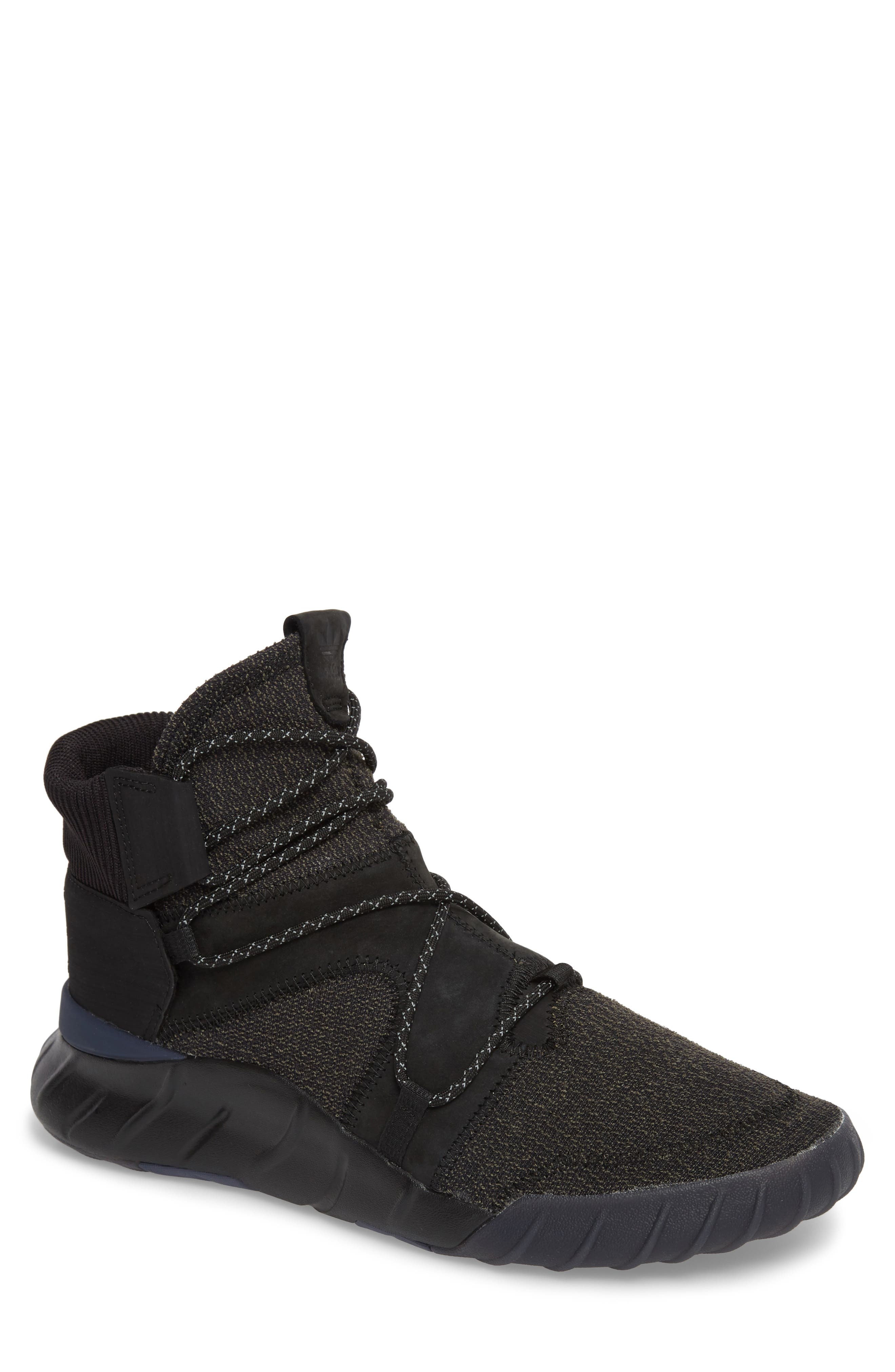 Tubular X 2.0 High Top Sneaker,                         Main,                         color, Core Black/ Blue