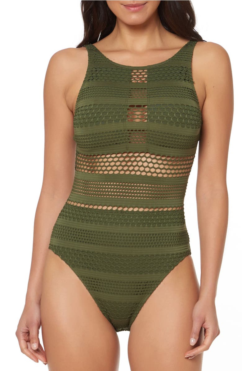 Crochet One-Piece Swimsuit
