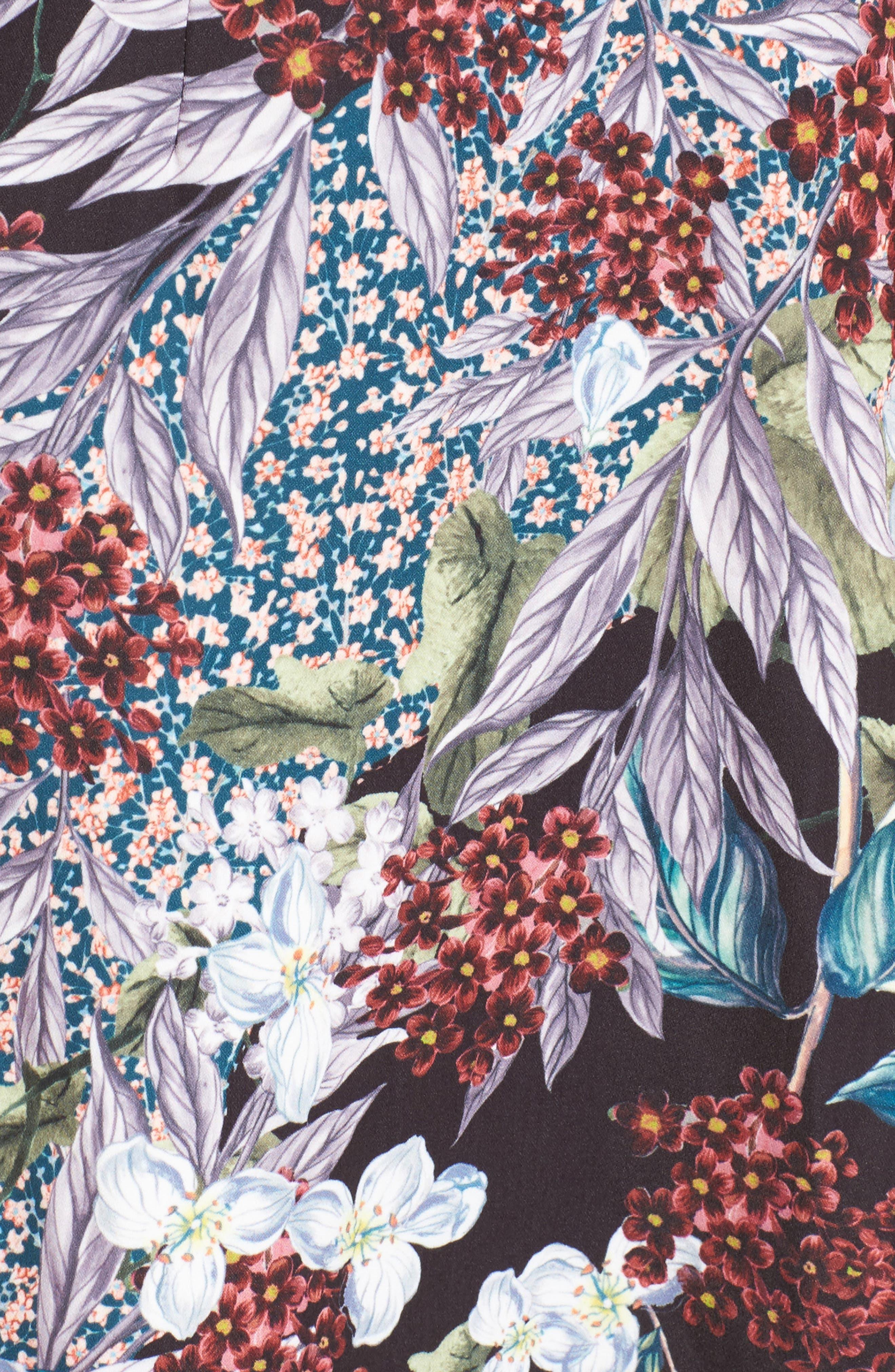 Lost Dreams Minidress,                             Alternate thumbnail 6, color,                             Multi Floral