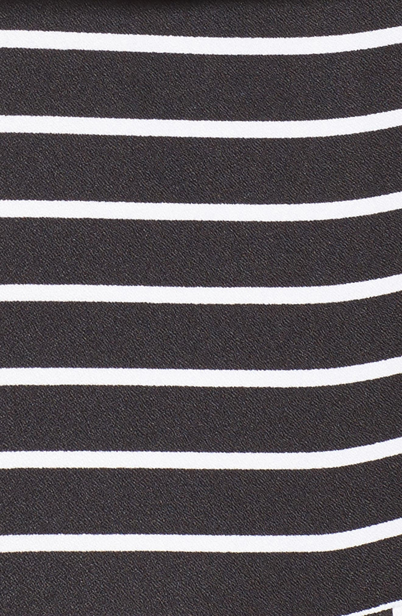 Stripe Jumpsuit,                             Alternate thumbnail 5, color,                             Black Bold Stripe