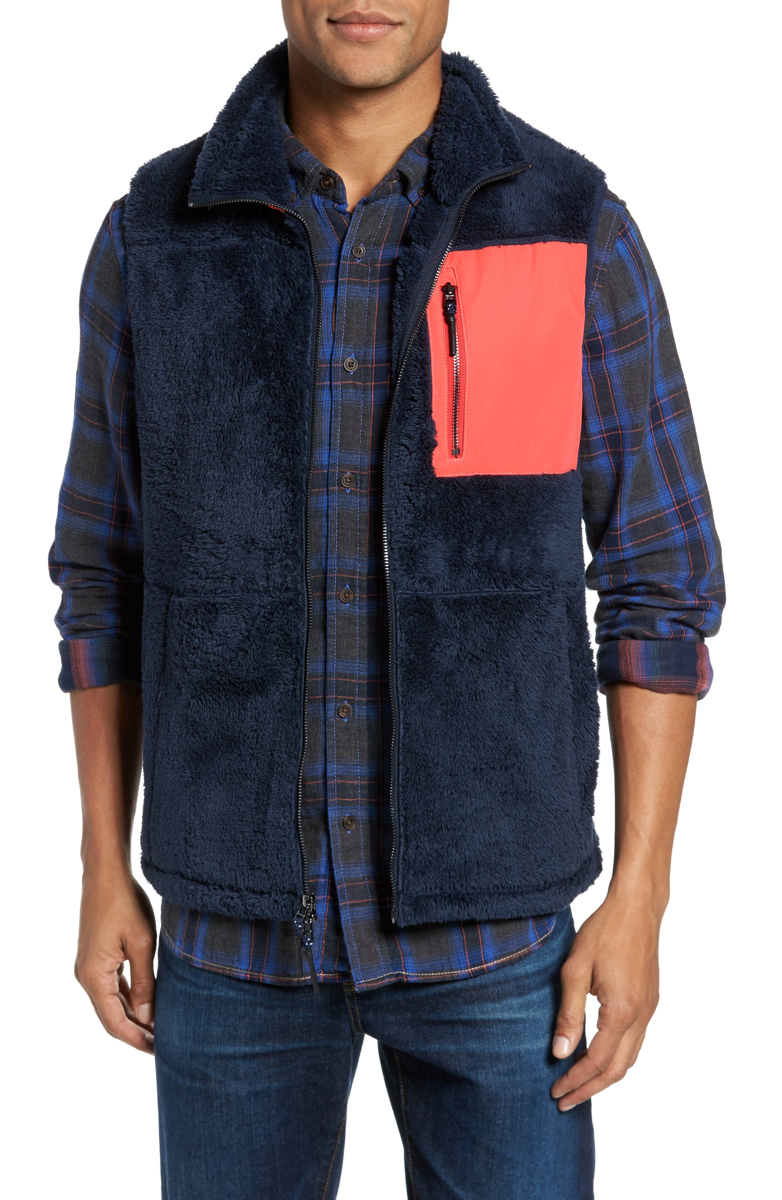 Main Image - Surfside Supply Colorblock Fleece Vest