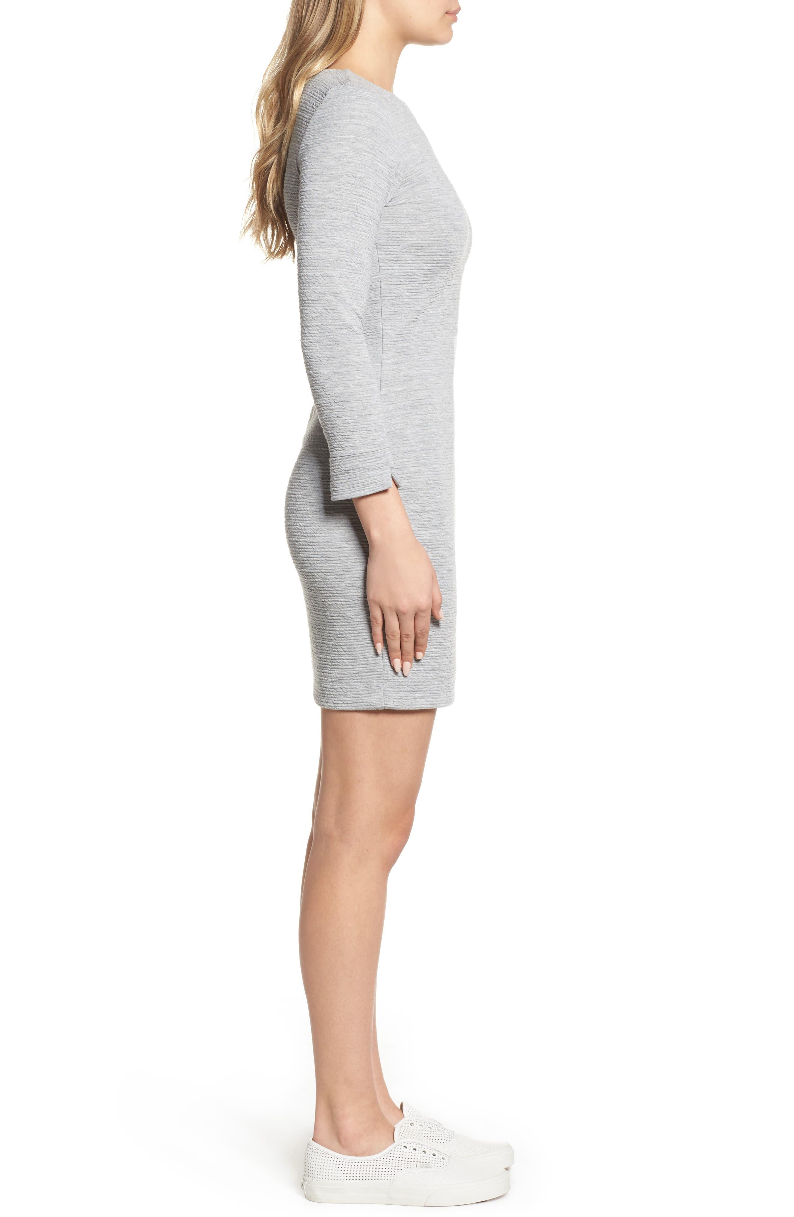 Sudan Marl Sheath Dress,                             Alternate thumbnail 3, color,                             Mid Grey Mel