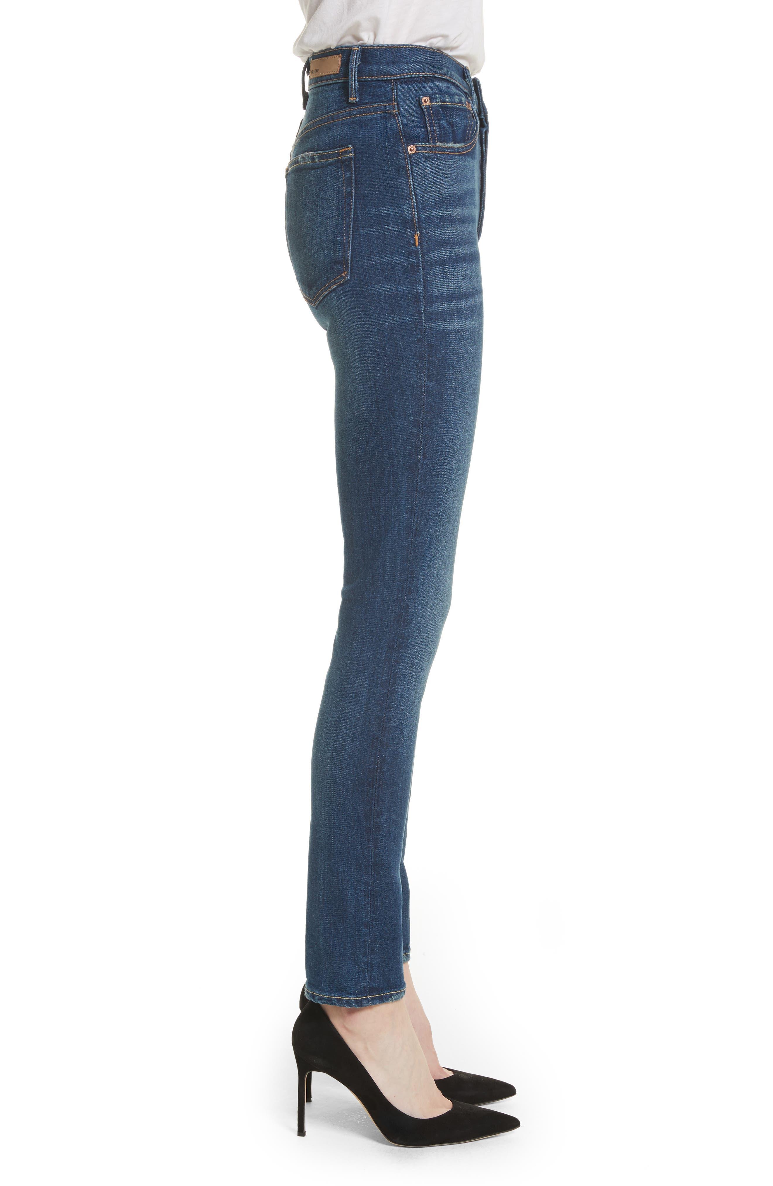 Karolina High Waist Skinny Jeans,                             Alternate thumbnail 3, color,                             Joan Jett