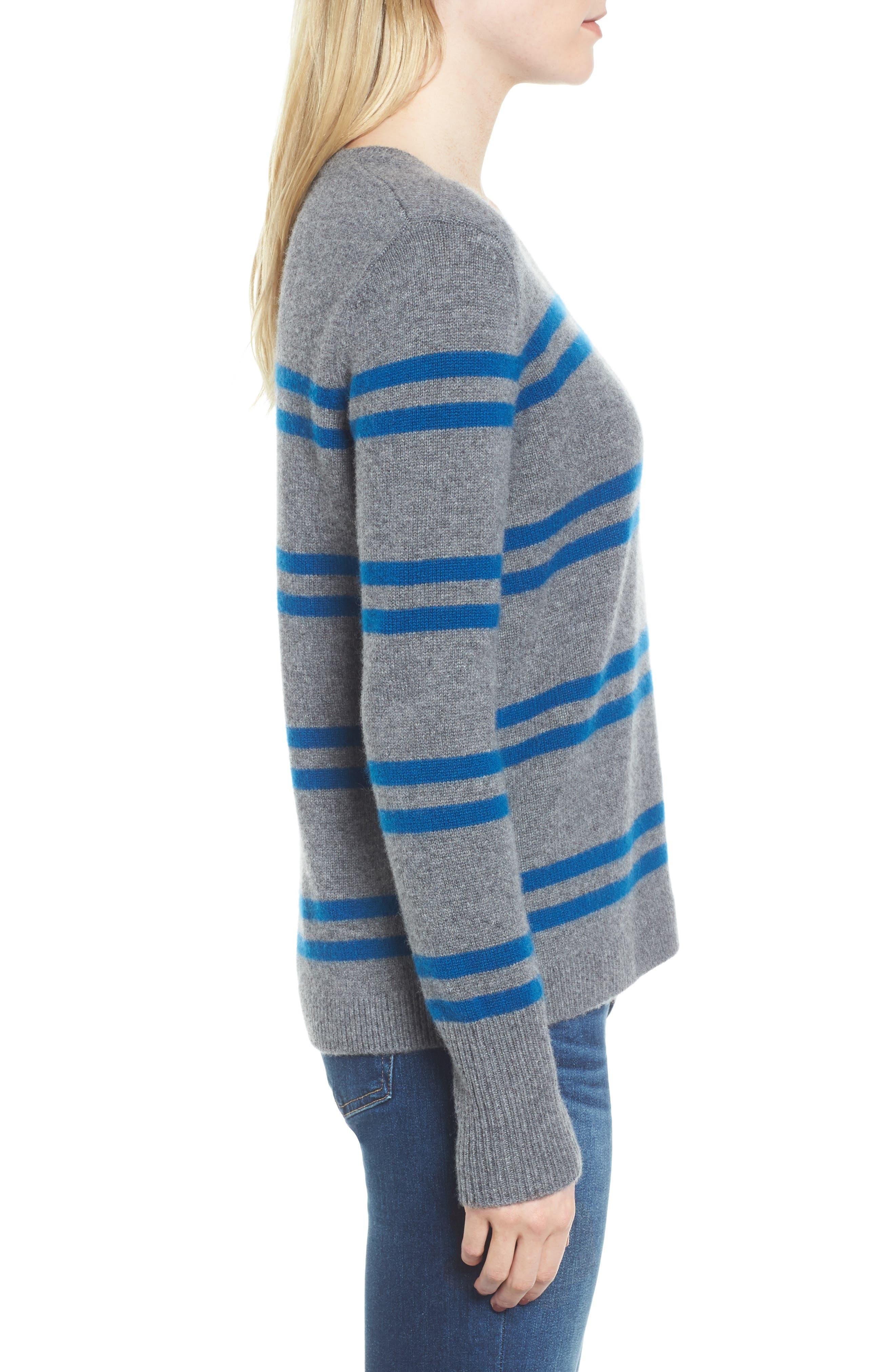 Alternate Image 3  - James Perse Stripe Cashmere Sweatshirt