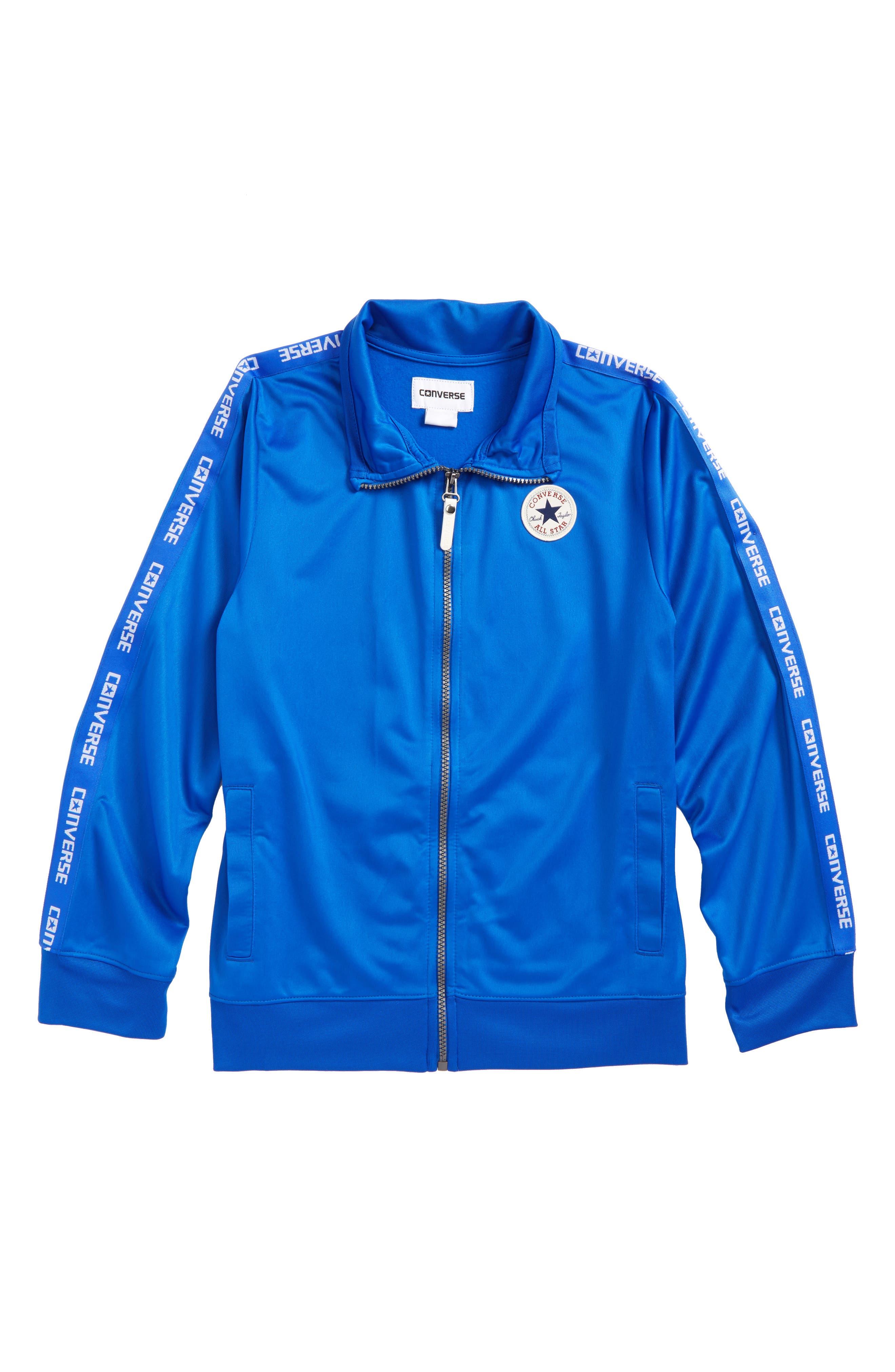 Logo Warm-Up Jacket,                         Main,                         color, Laser Blue