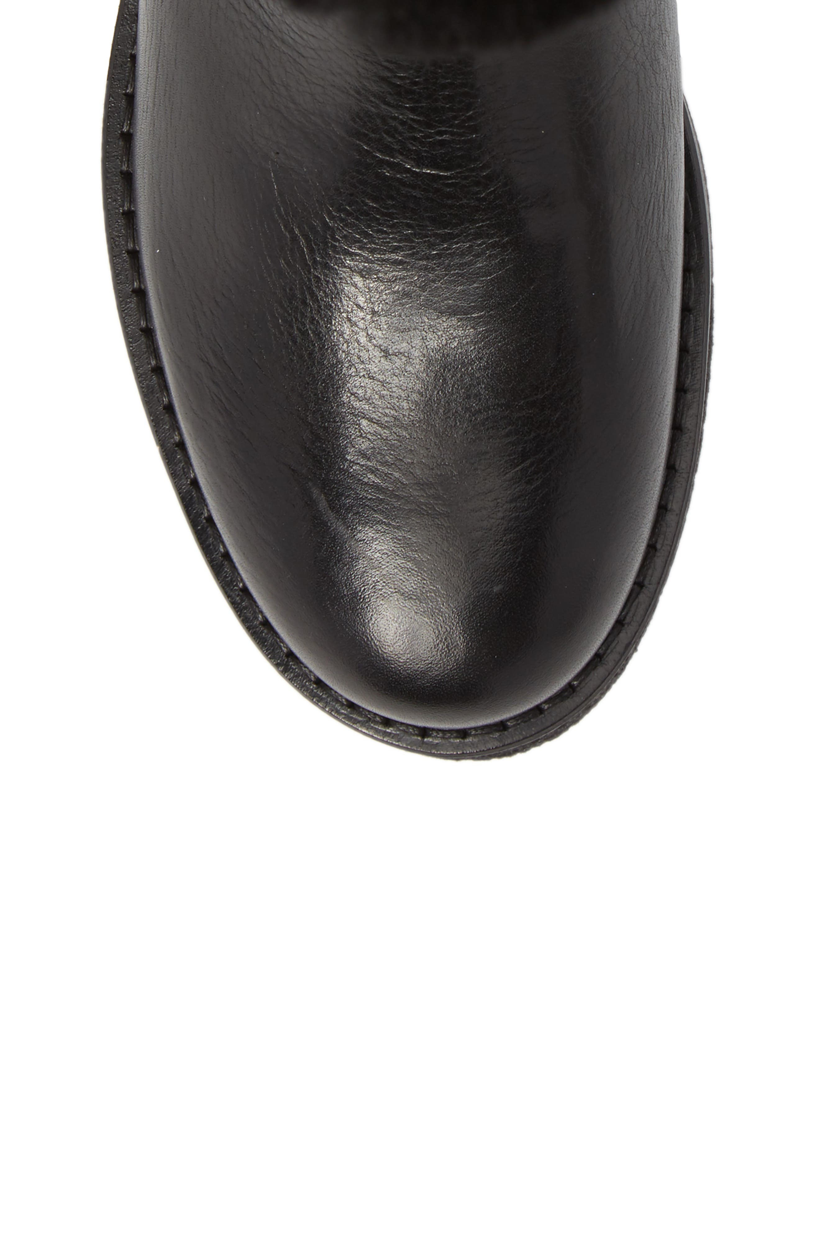 Amarillo Waterproof Insulated Snow Boot,                             Alternate thumbnail 5, color,                             Black Fur Leather