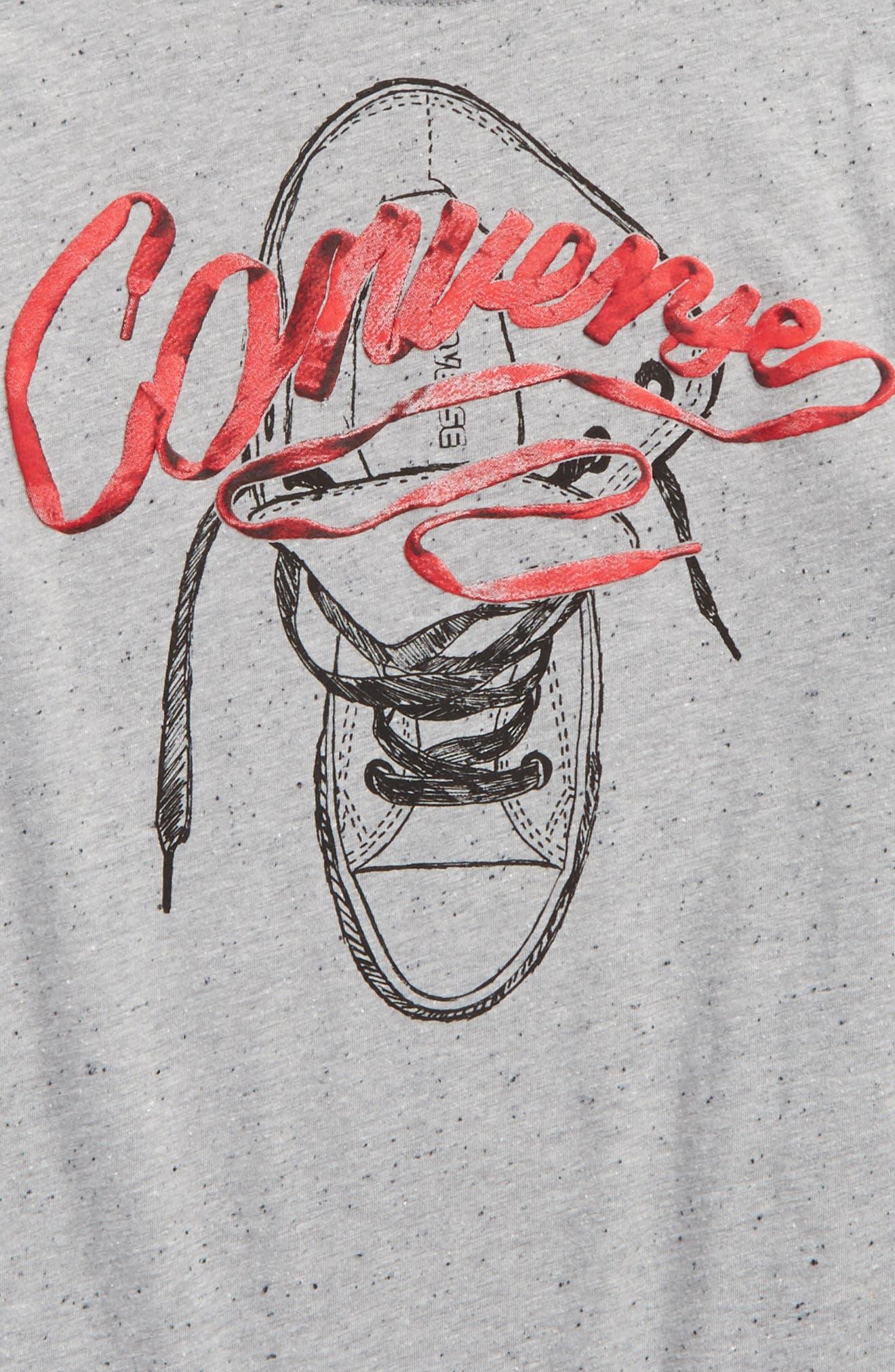 Shoelace Graphic T-Shirt,                             Alternate thumbnail 2, color,                             Grey Heather